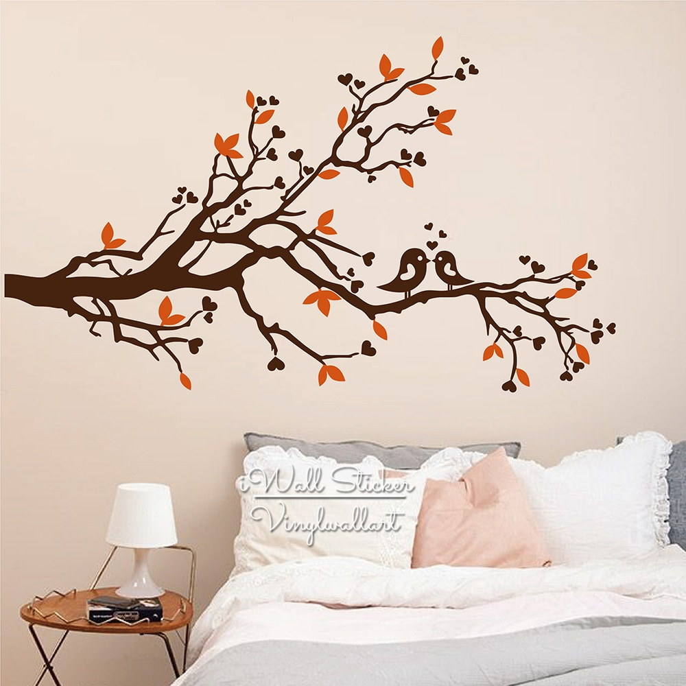 Birds On A Branch Wall Decor With Widely Used Tree Wall Sticker Baby Nursery Tree Birds Wall Decal Diy Tree Branch (Gallery 13 of 20)