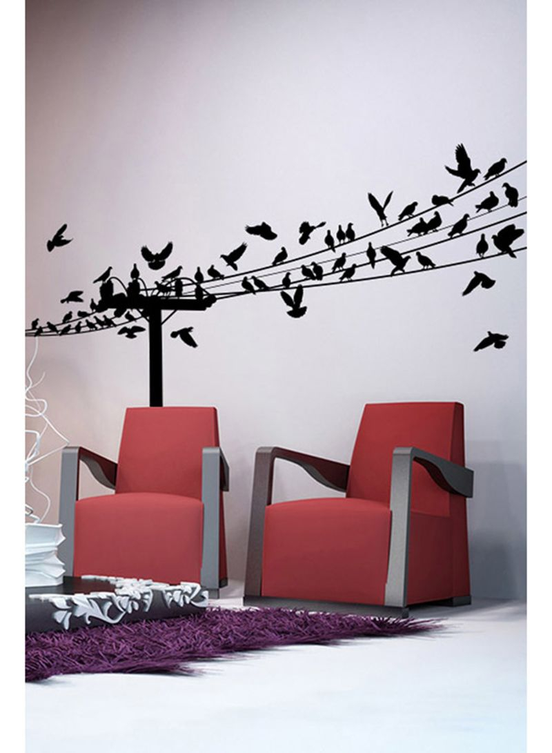 Birds On A Wire Wall Decal Black 130x60 Centimeter Price In Uae With Regard To Well Known Birds On A Wire Wall Decor (View 16 of 20)