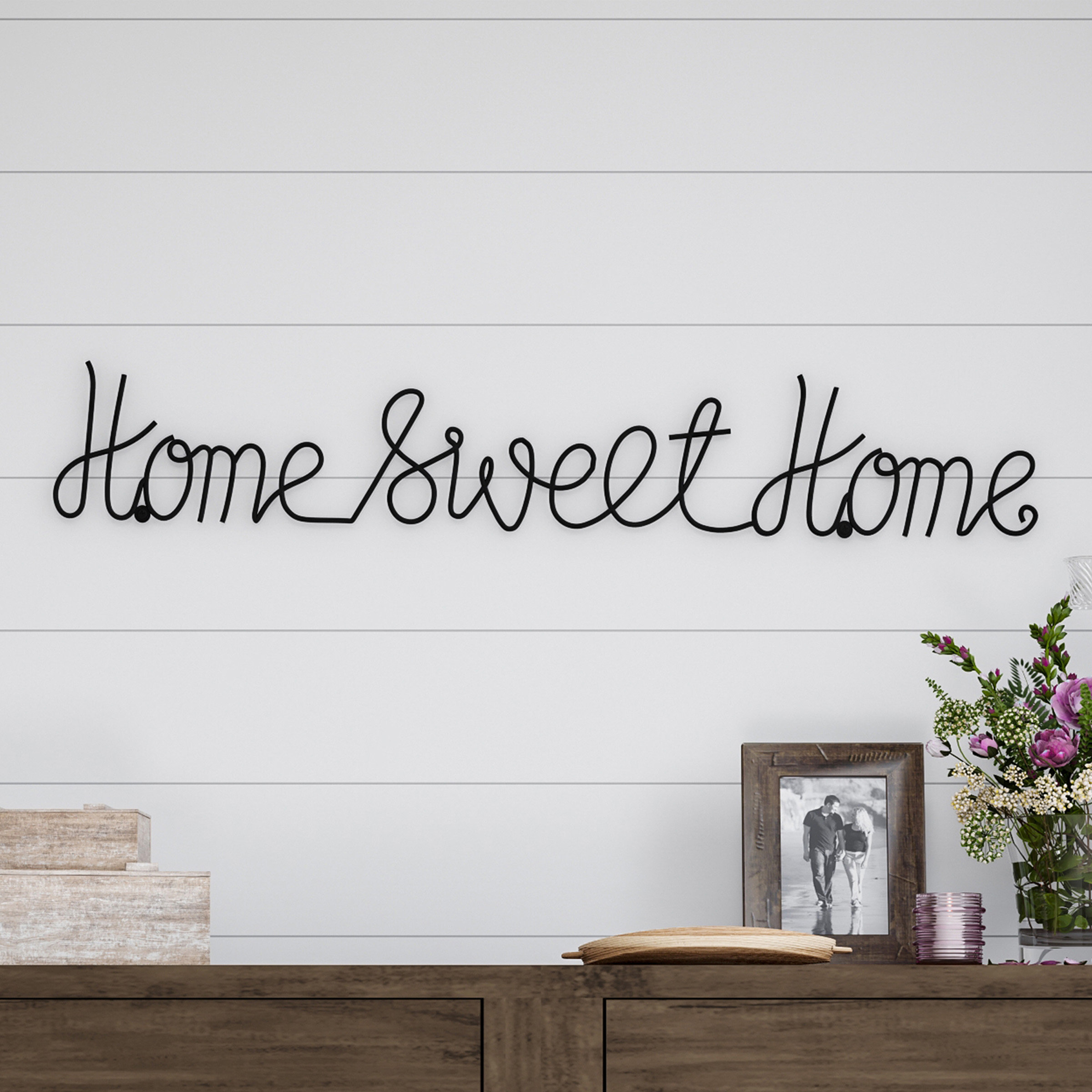 Blessed Steel Wall Decor Inside Best And Newest Winston Porter Home Sweet Home Metal Wall Décor & Reviews (View 9 of 20)