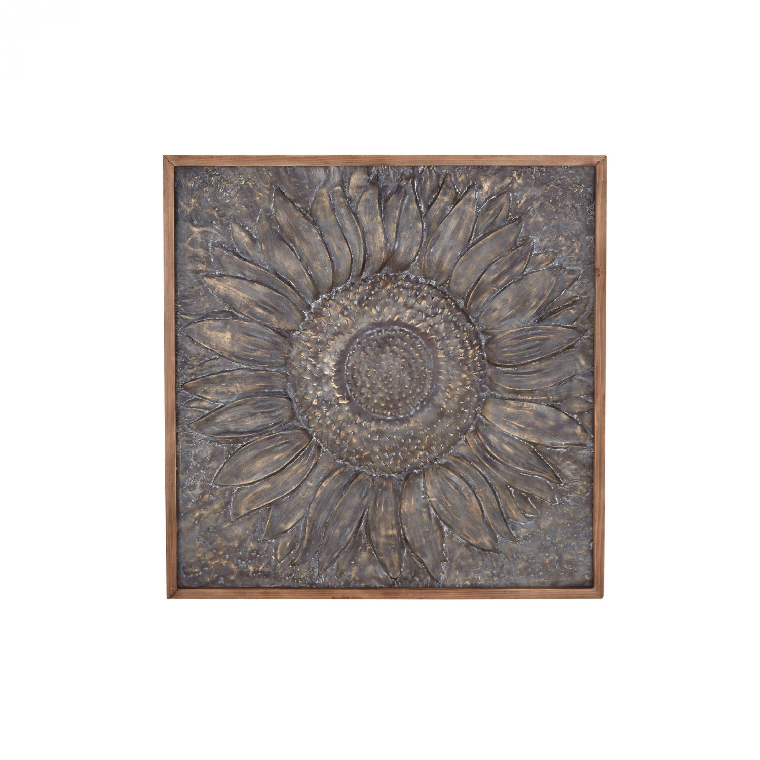 Brown Wood And Metal Wall Decor With Most Current Flower Metal Wall Decor (View 13 of 20)