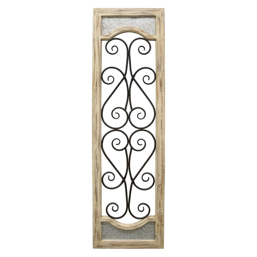 Brown Wood And Metal Wall Decor With Most Up To Date Three Hands Brown Wood/metal Wall Decor 76397 – The Home Depot (Gallery 6 of 20)