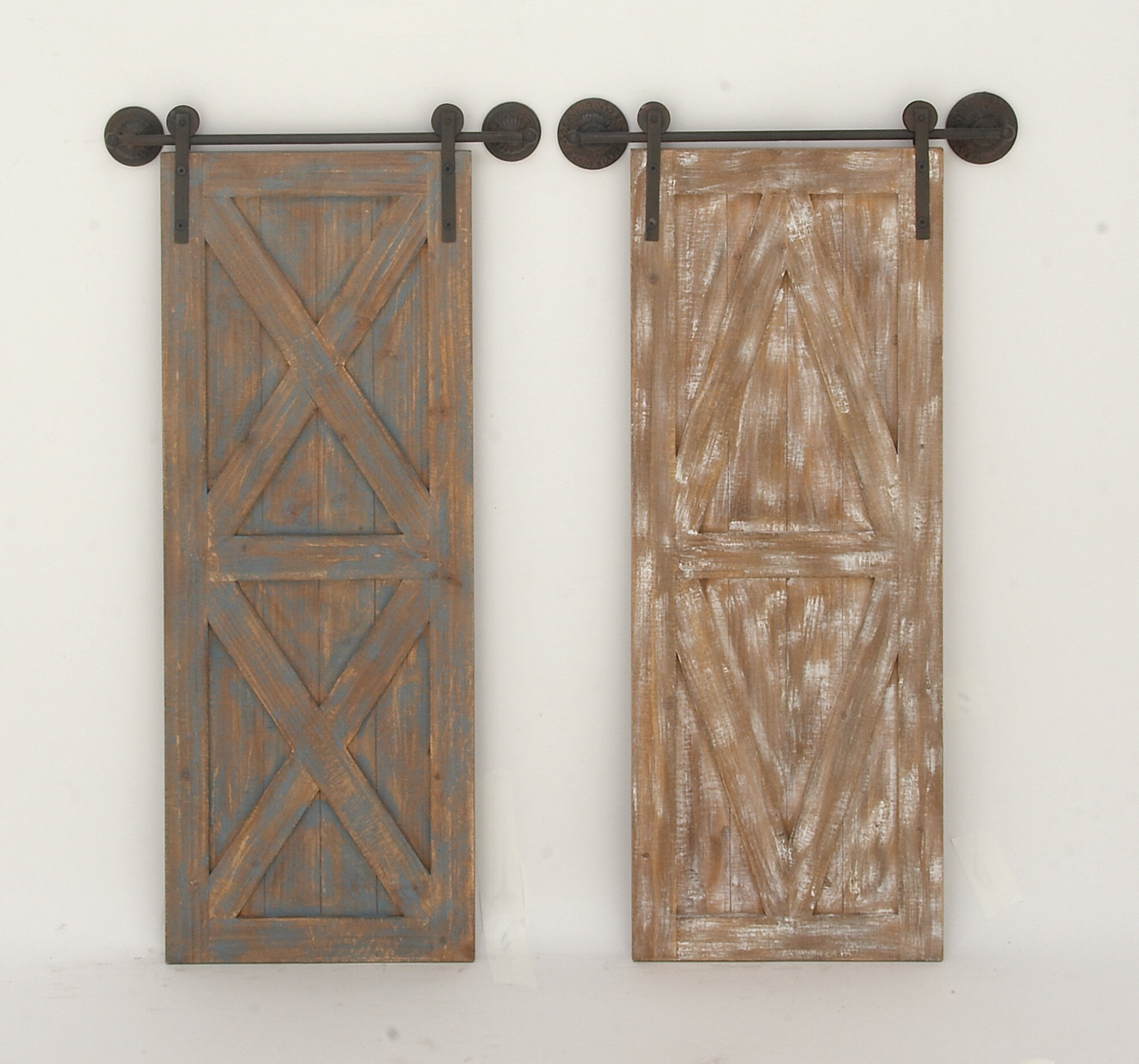 Brown Wood And Metal Wall Decor Within 2020 Cole & Grey 2 Piece Wood/metal Wall Décor & Reviews (View 9 of 20)