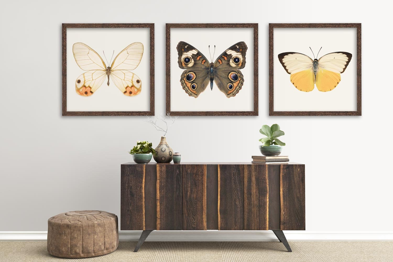 Butterfly Print Set Living Room Decor Set Of 3 Prints (View 6 of 20)