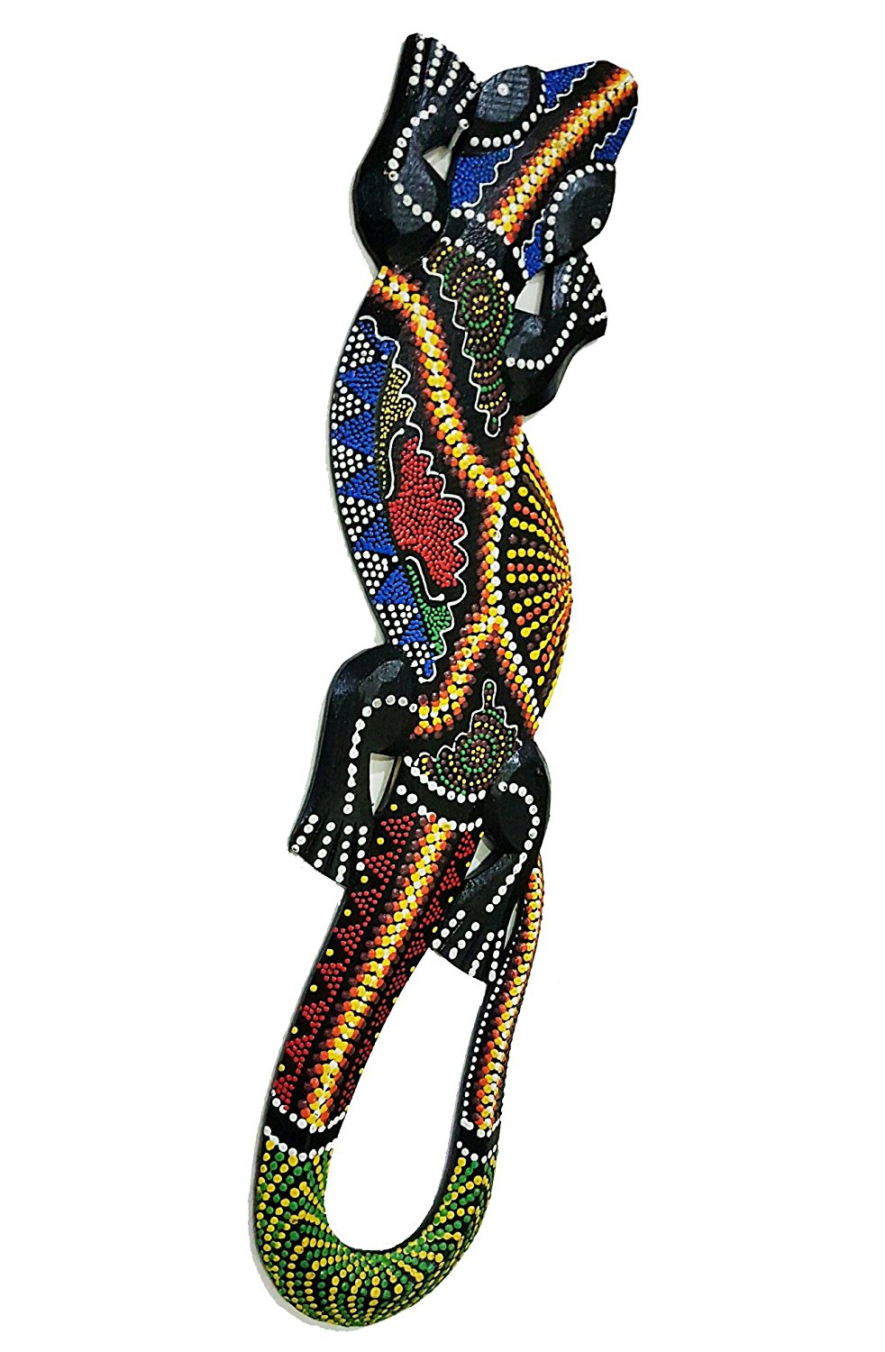 Buy Dot Painted Gecko Wooden Wall Hanging Lizard (aboriginal Art) In Within Most Popular Gecko Wall Decor (View 15 of 20)