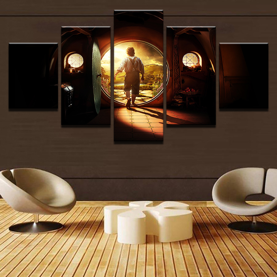 Canvas Pictures Home Decor Wall Art 5 Pieces Lord Of The Rings In Famous Rings Wall Decor (View 19 of 20)