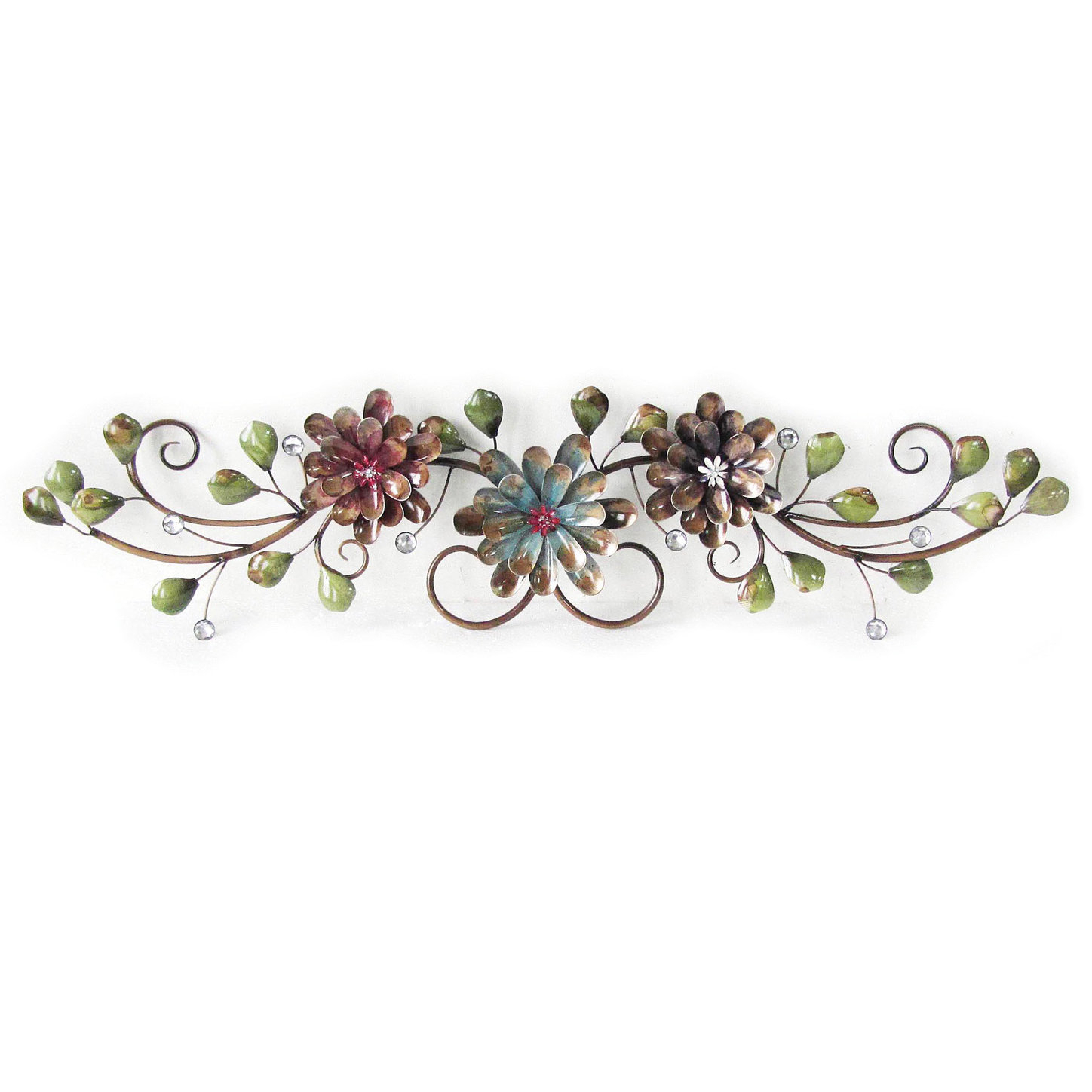 Charlton Home Three Flowers On Vine Wall Decor & Reviews (Gallery 1 of 20)