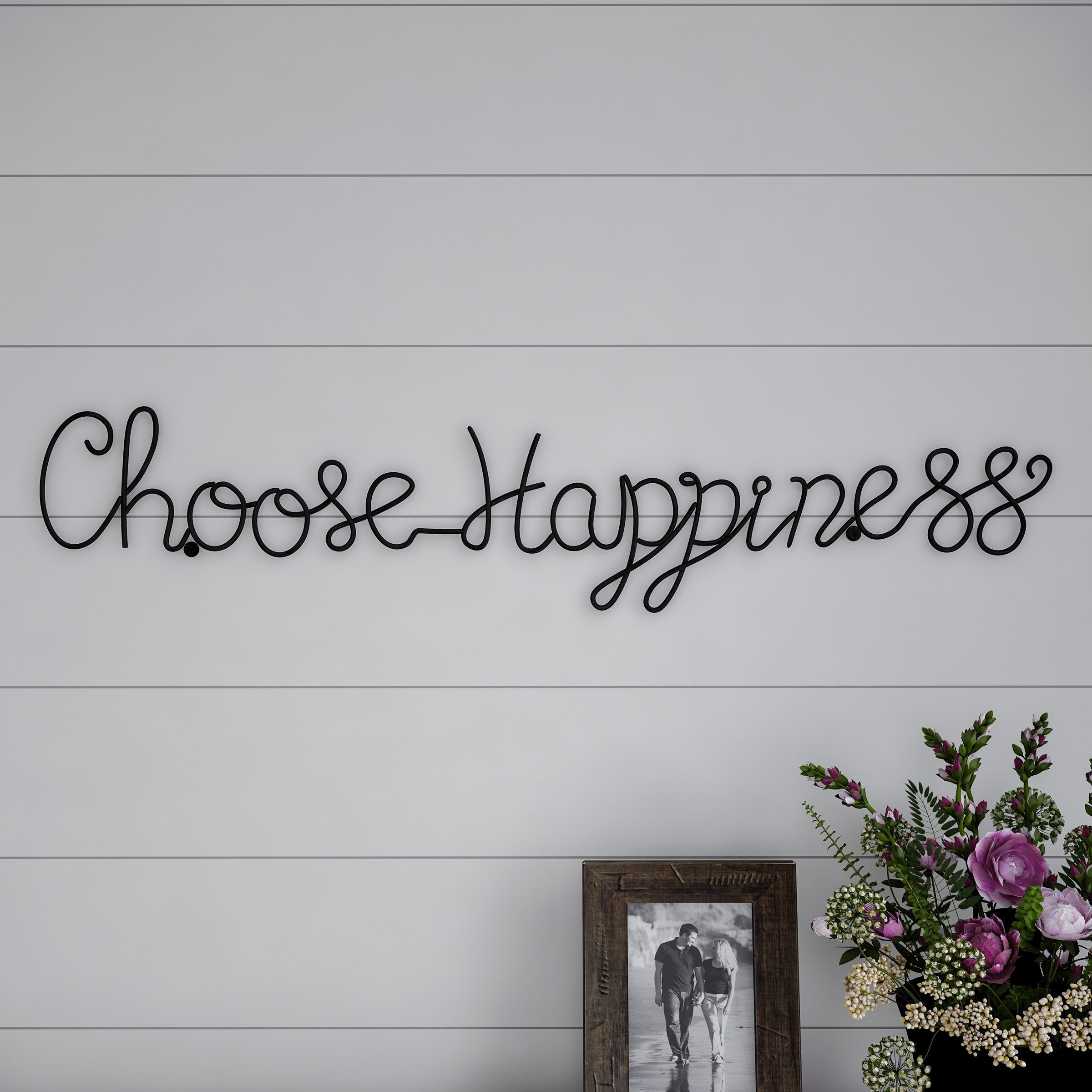 Choose Happiness 3d Cursive Metal Wall Decor For Most Popular Shop Metal Cutout Choose Happiness Cursive Cutout Sign 3d Word Art (View 2 of 20)