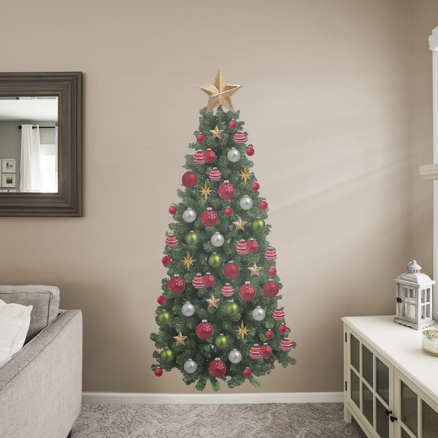 Christmas Tree – Life Size Holiday Removable Wall Decal Wall Decal Within 2020 Tree Wall Decor (Gallery 16 of 20)