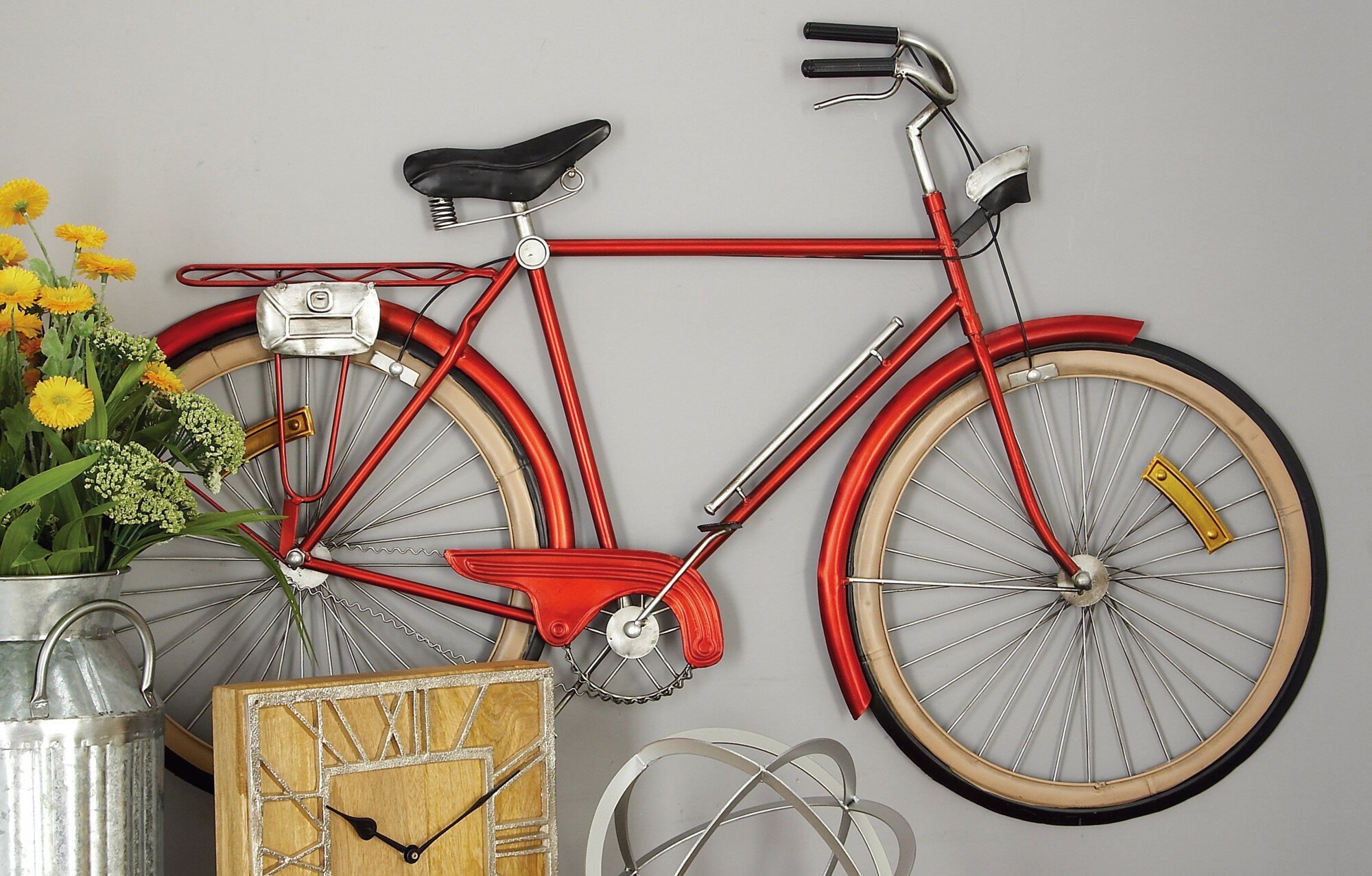 Cole & Grey Metal Bicycle Wall Décor & Reviews (Gallery 5 of 20)