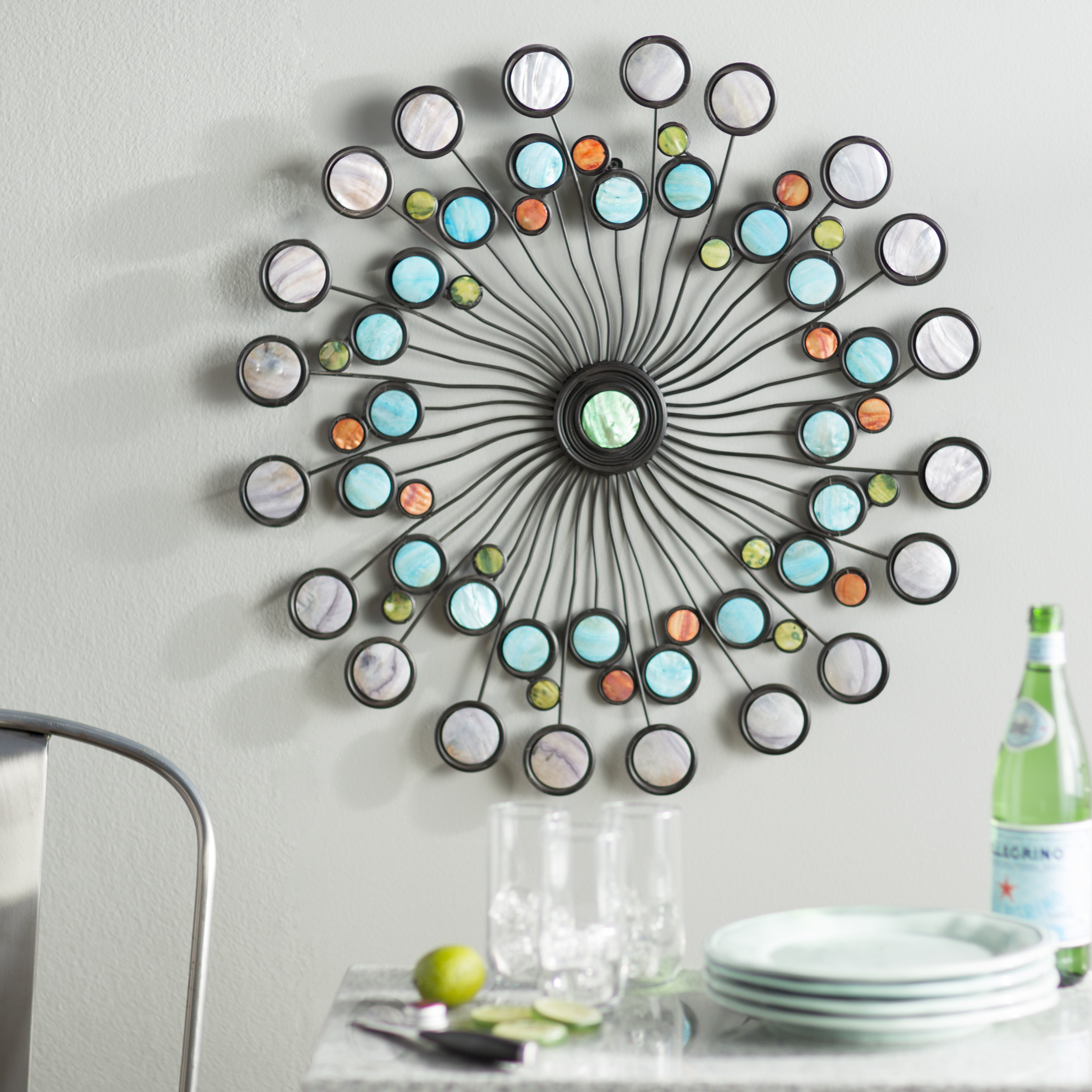 Contemporary Abstract Round Wall Decor For Most Up To Date Latitude Run Modern Metal Wall Décor & Reviews (Gallery 8 of 20)