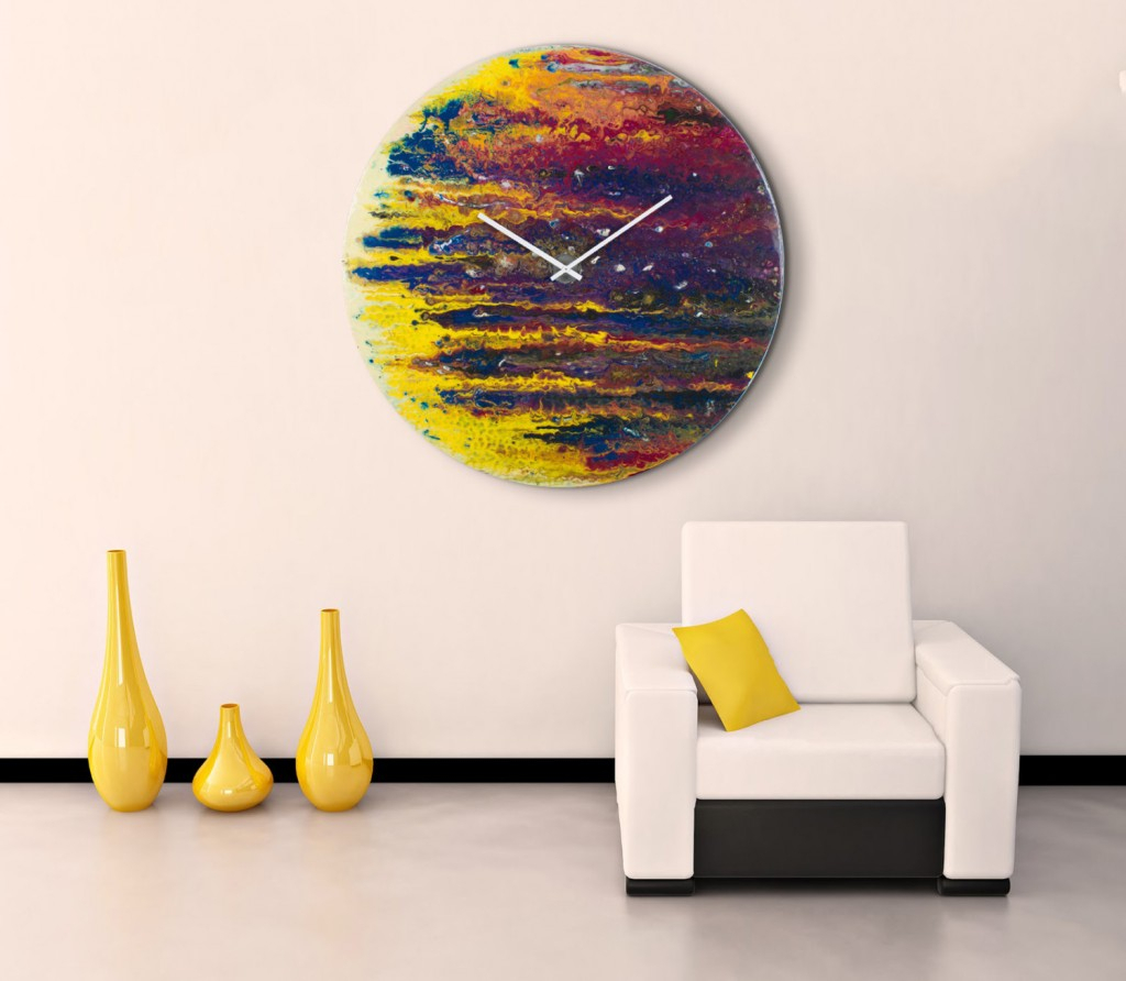 Contemporary Abstract Round Wall Decor With Regard To Trendy Round Wall Clock Art : Aidnature – Very Original Wall Clock Art (View 5 of 20)