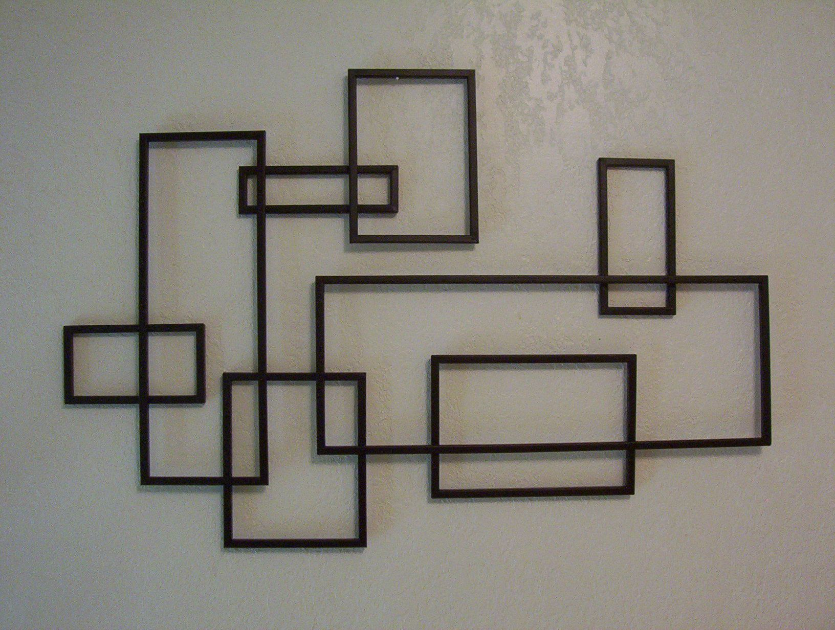 Contemporary Geometric Wall Decor Intended For Newest Mid Century Modern ~ De Stijl Style Geometric Metal Wall Sculpture (View 3 of 20)