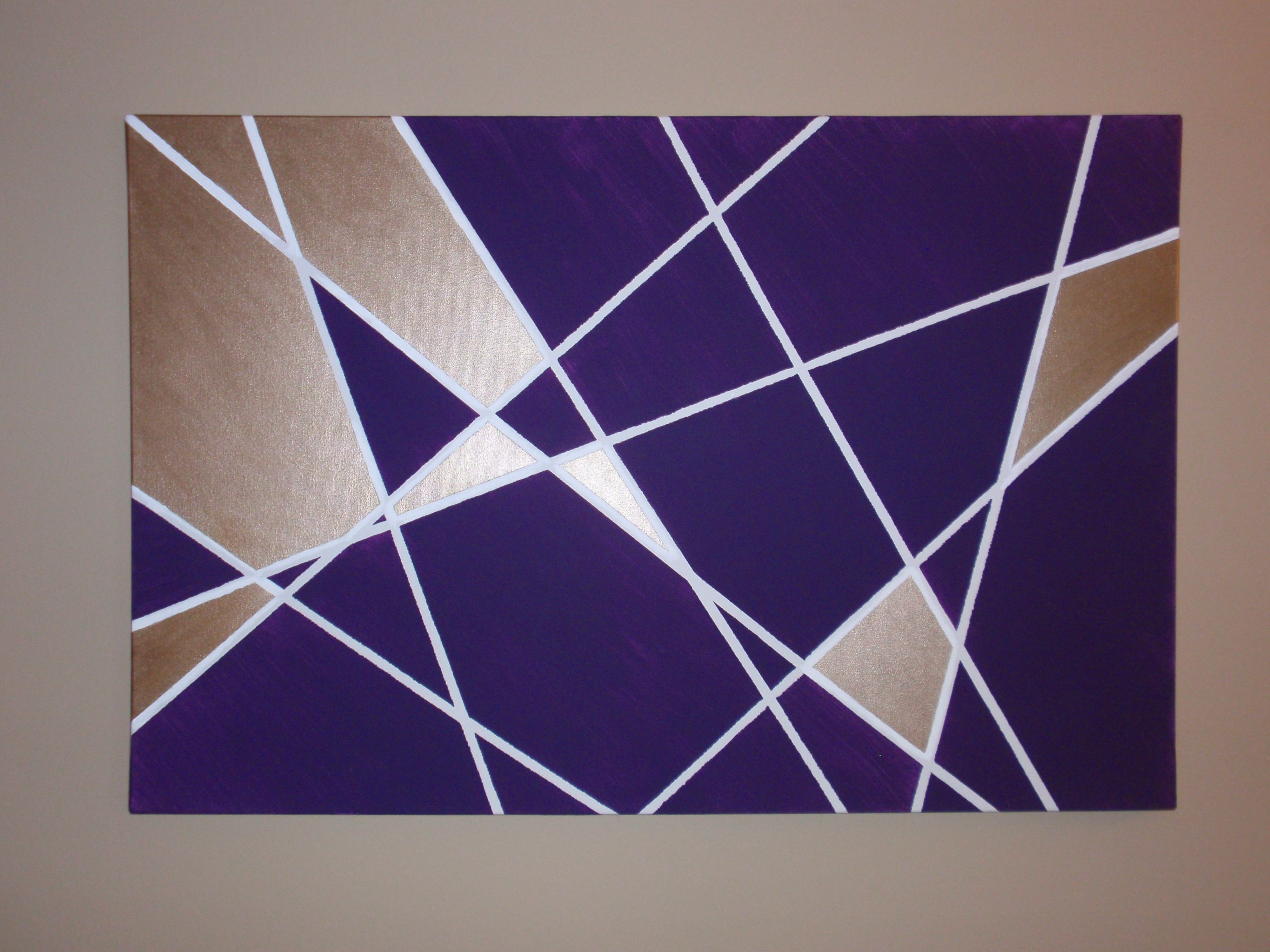 Contemporary Geometric Wall Decor Pertaining To 2019 Wall Art Ideas Design : Purple Rectangle Geometric Wall Art Home (View 4 of 20)