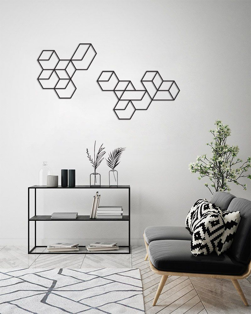 Contemporary Geometric Wall Decor Pertaining To Most Current Geometric Wall Art, Wall Decor Set, Metal Wall Art, Large Wall Art (View 8 of 20)