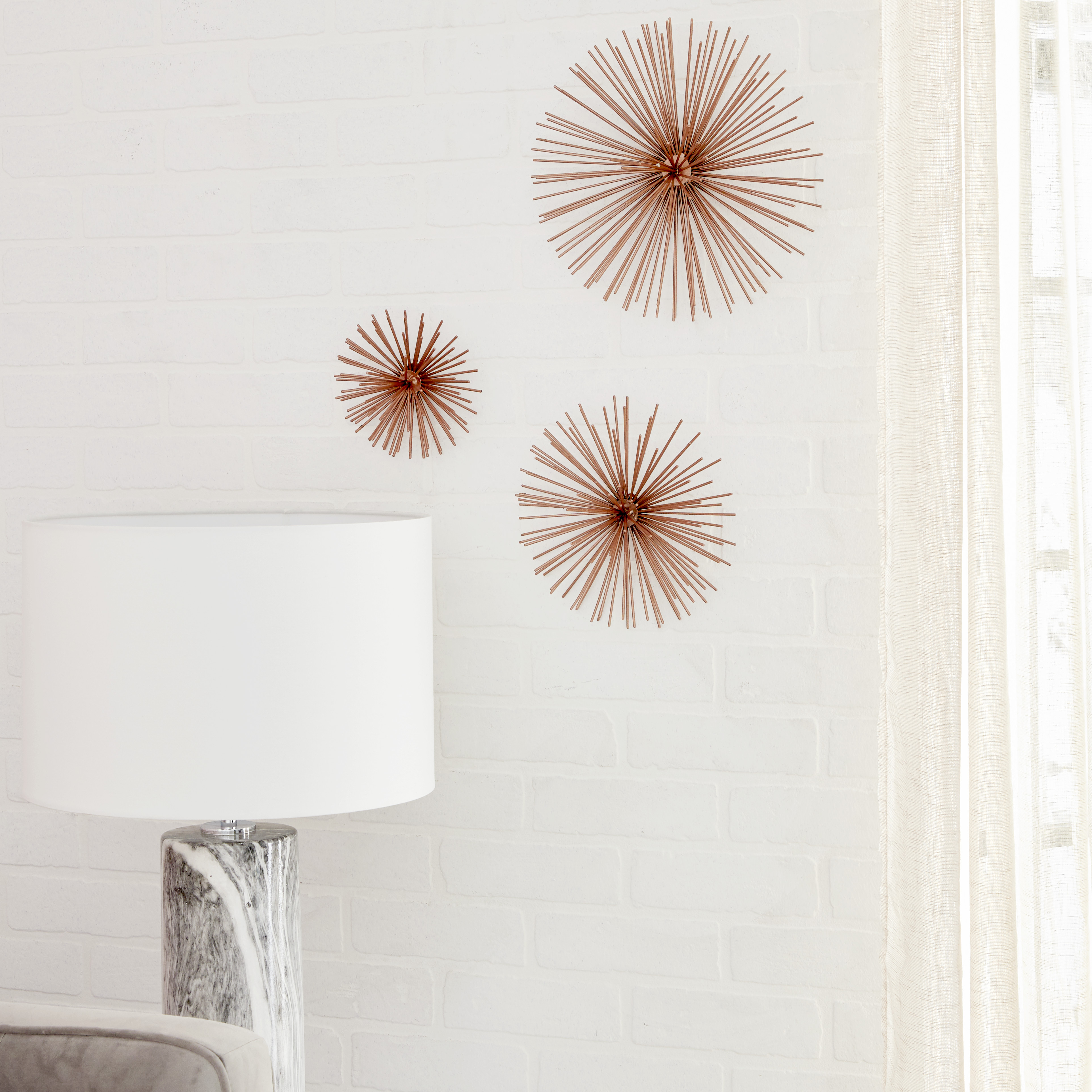 Cosmoliving Contemporary Style 3D Round Copper Metal Starburst Wall Regarding Newest Metal Wall Decor By Cosmoliving (Gallery 11 of 20)