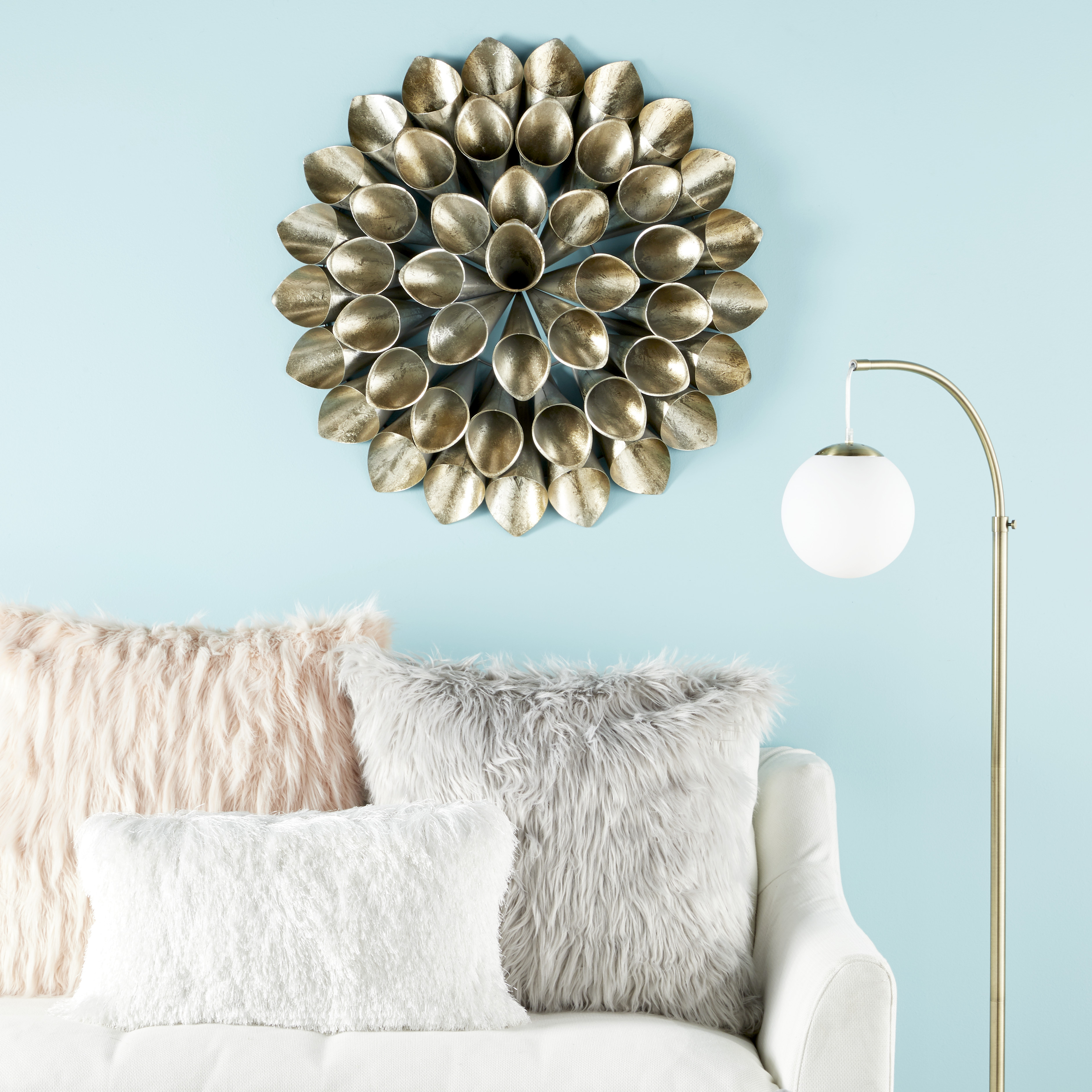 Cosmoliving Large Round Metallic Gold Metal Floral Orb Wall Decor Throughout Well Known Metal Wall Decor By Cosmoliving (Gallery 8 of 20)