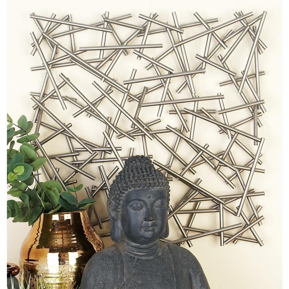 Cosmolivingcosmopolitan Modern Silver Finished Abstract Iron In Latest Metal Wall Decor By Cosmoliving (View 9 of 20)
