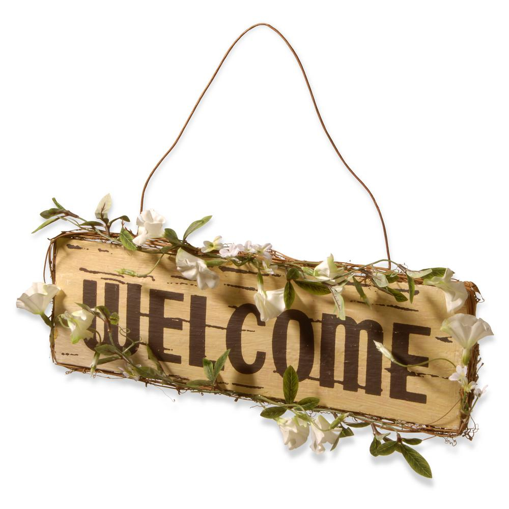 Current National Tree Company 21 In. Welcome In Door Sign Ras Kd030149 – The With Regard To Tree Welcome Sign Wall Decor (Gallery 17 of 20)