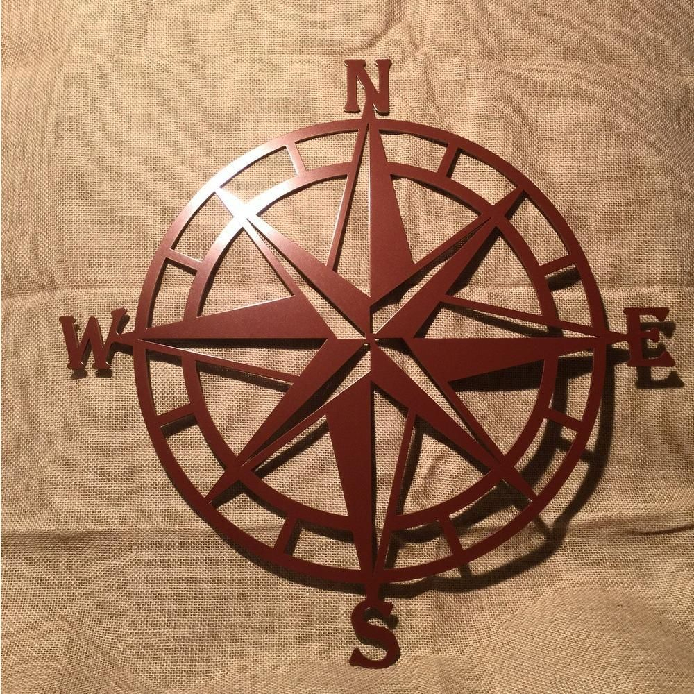 Current Nautical Compass Rose Metal Wall Art  Various Sizes (Gallery 20 of 20)