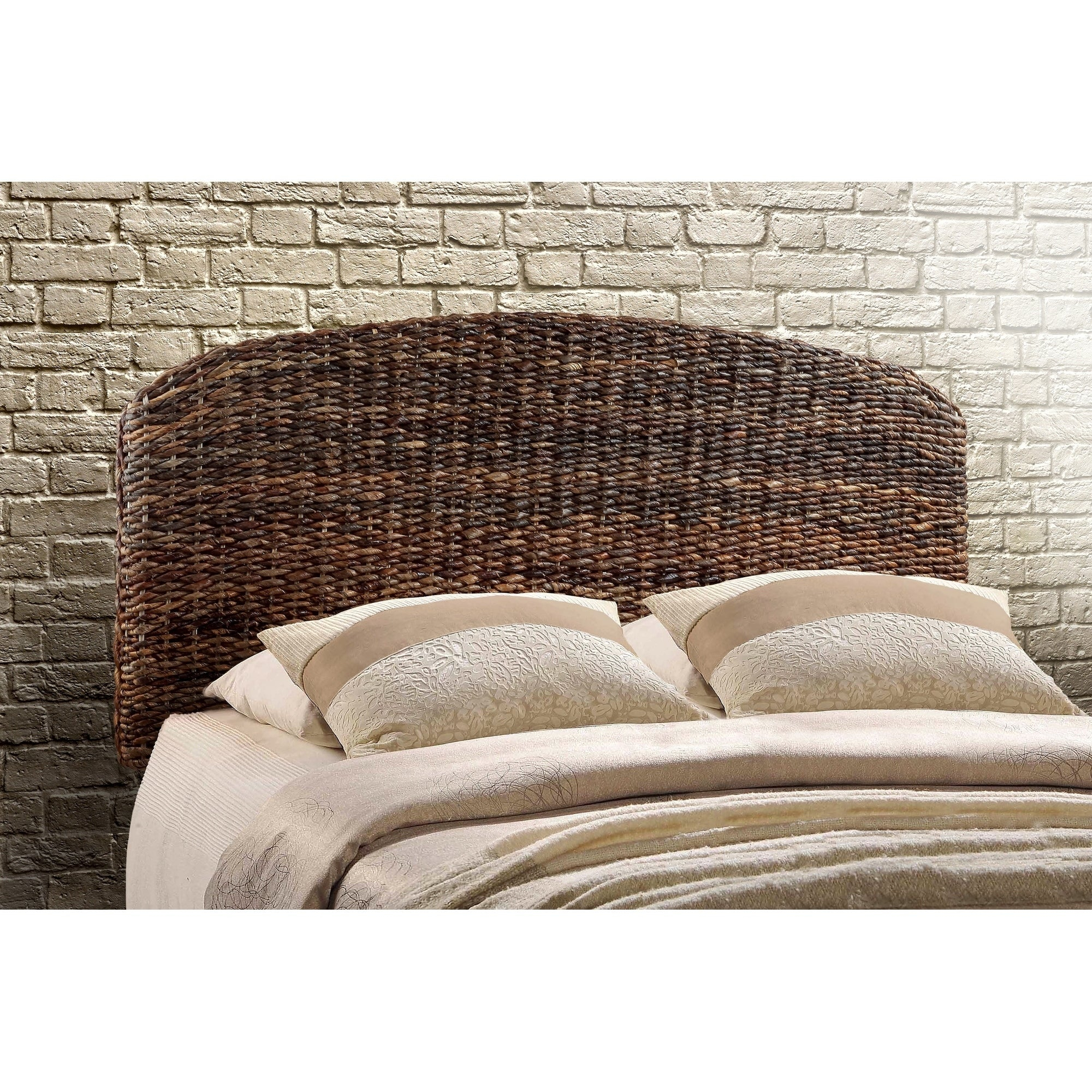 Current Shop Raja Queen Size Handwoven Banana Leaf Headboard – On Sale Throughout 4 Piece Handwoven Wheel Wall Decor Sets (View 5 of 20)