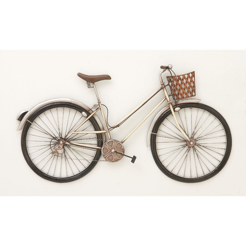 Current Wall Decor By Cole & Grey Regarding Cole Grey Exclusive Metal Bike Wall Decor Crafted From Metal For (View 11 of 20)