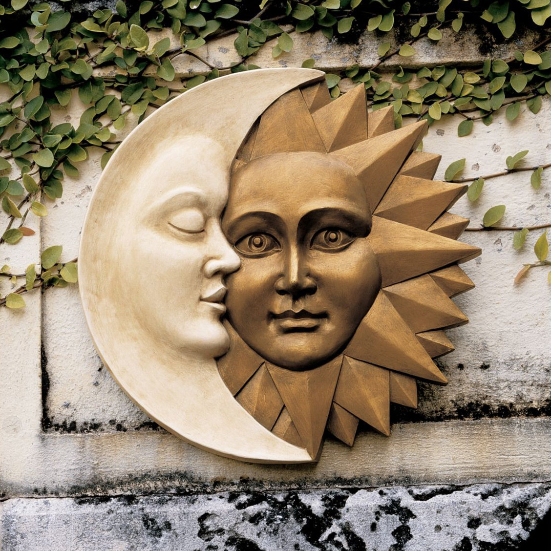 Design Toscano Celestial Harmony Sun & Moon Wall Décor & Reviews within Preferred Aurora Sun Wall Decor