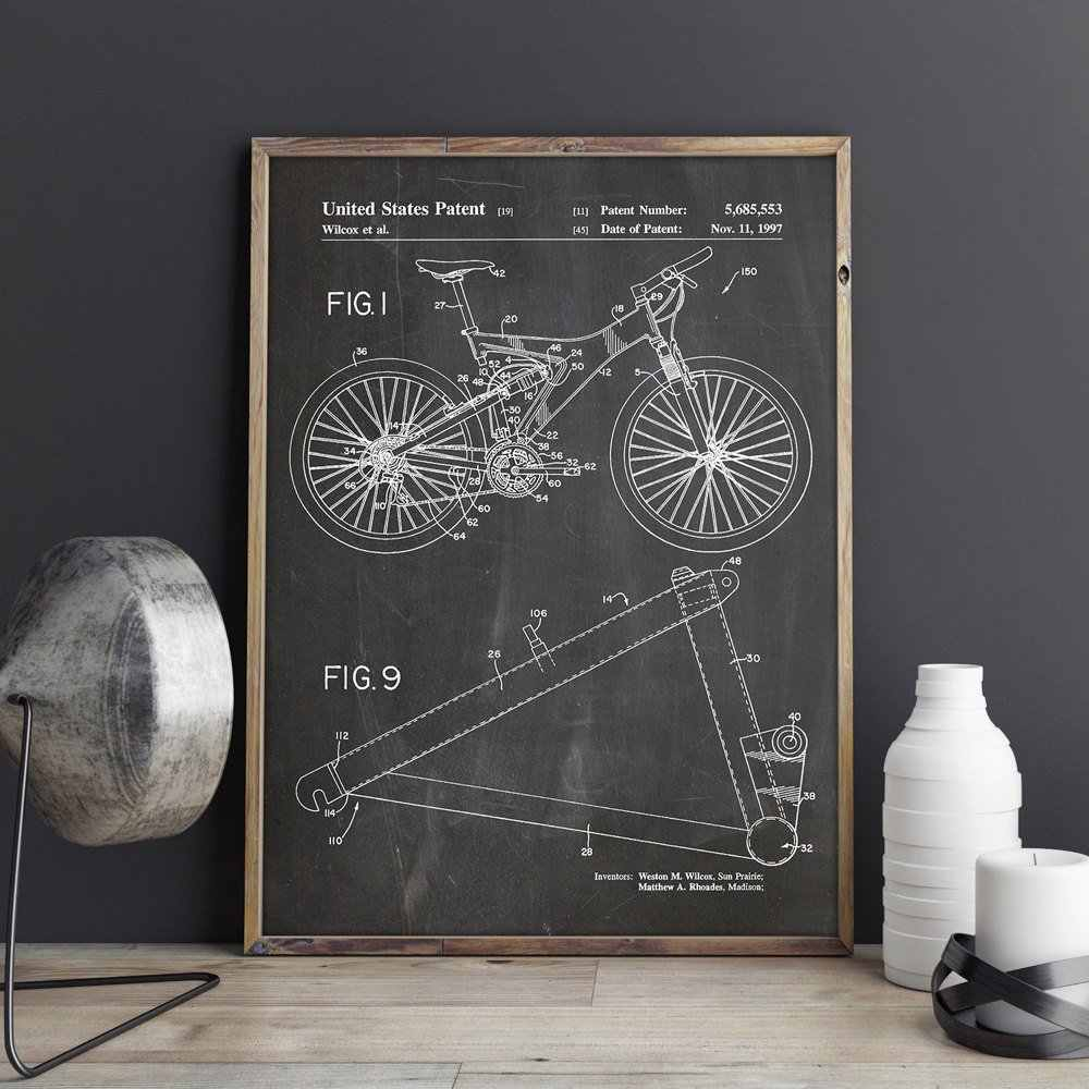 Detail Feedback Questions About Mountain Bike Patent,cycling Artwork Within Preferred Bike Wall Decor (View 6 of 20)