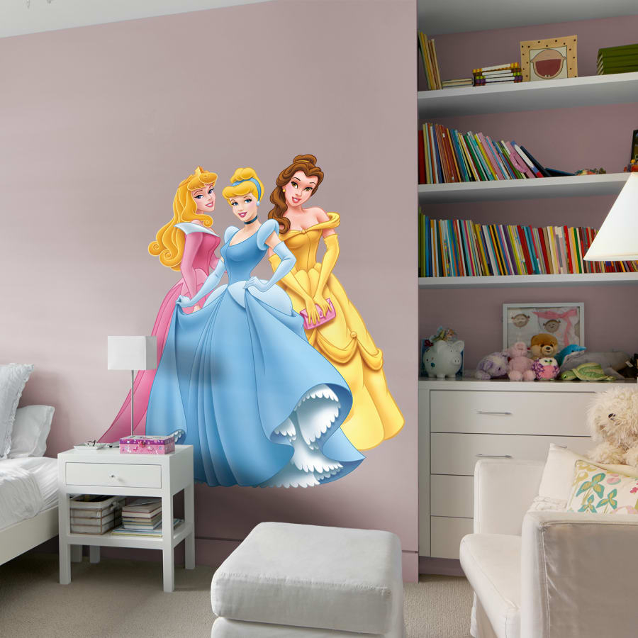 Disney Princess: Aurora, Cinderella & Belle – Huge Officially Within Popular Aurora Sun Wall Decor (View 5 of 20)