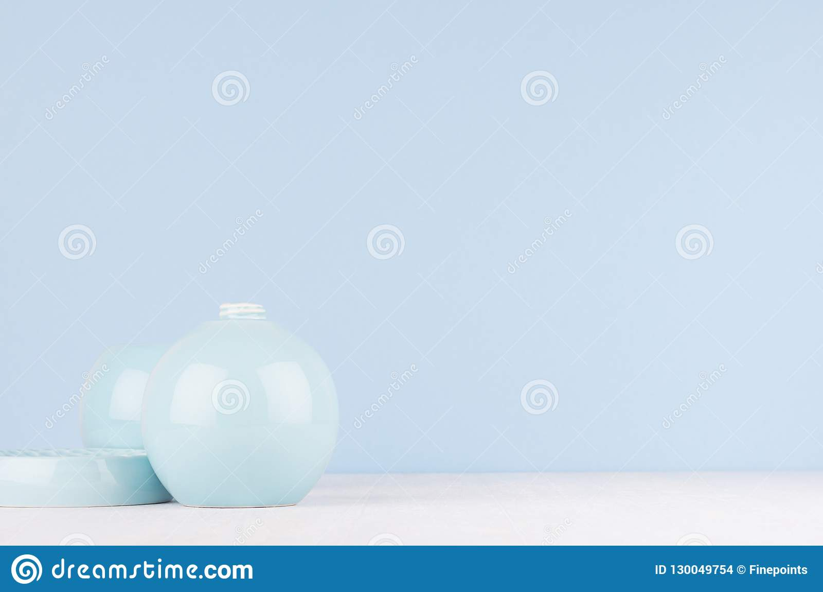 Elegant Modern Home Decor Of Smooth Ceramic Circle Vase And Bowl On Inside Latest Vase And Bowl Wall Decor (View 5 of 20)