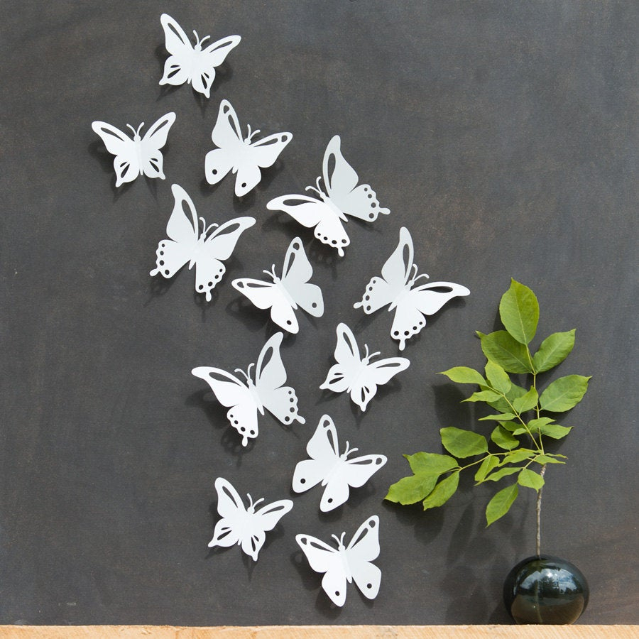 Etsy Inside Recent 3 Piece Capri Butterfly Wall Decor Sets (View 14 of 20)