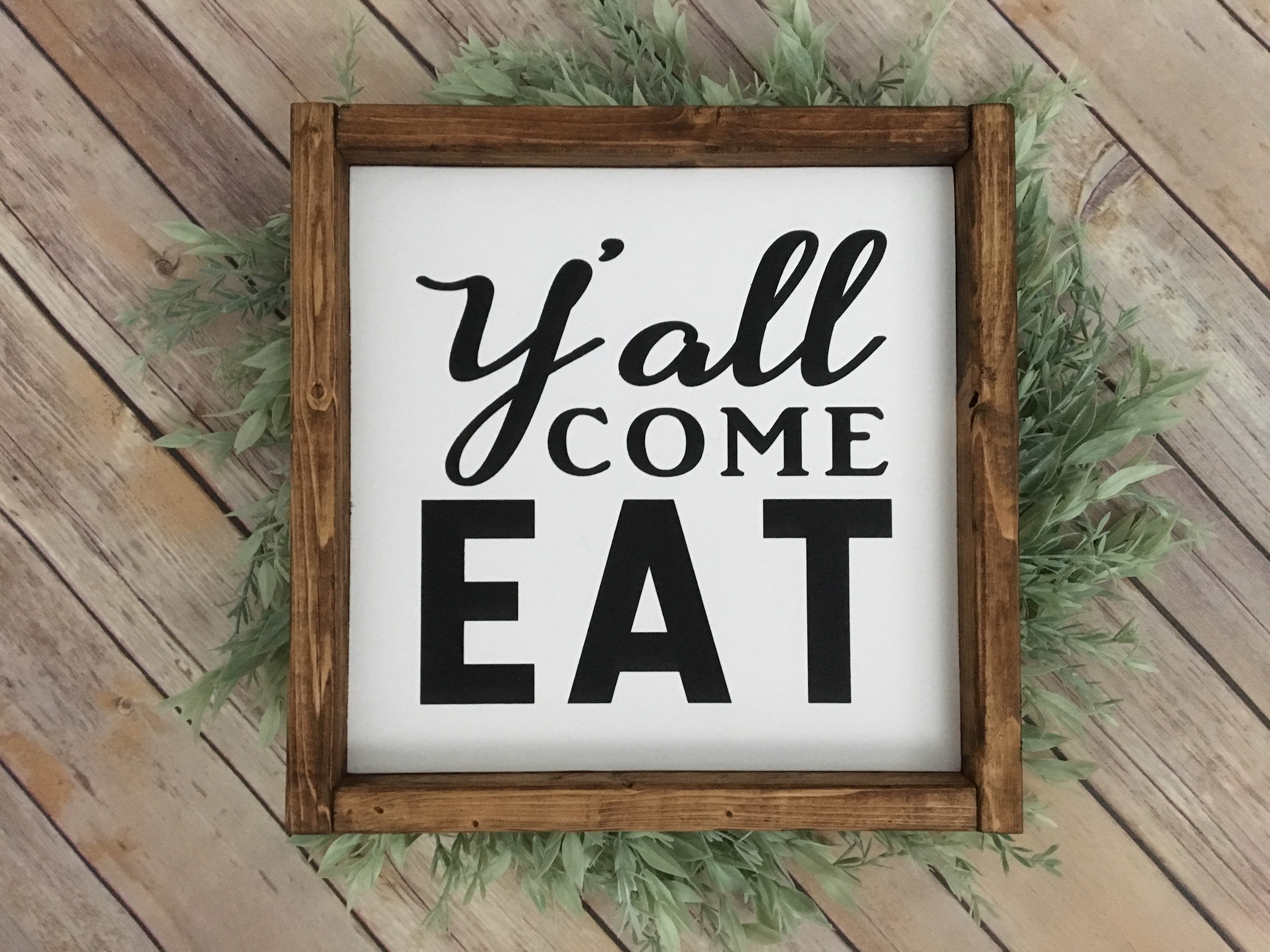 Etsy Pertaining To Eat Rustic Farmhouse Wood Wall Decor (View 18 of 20)
