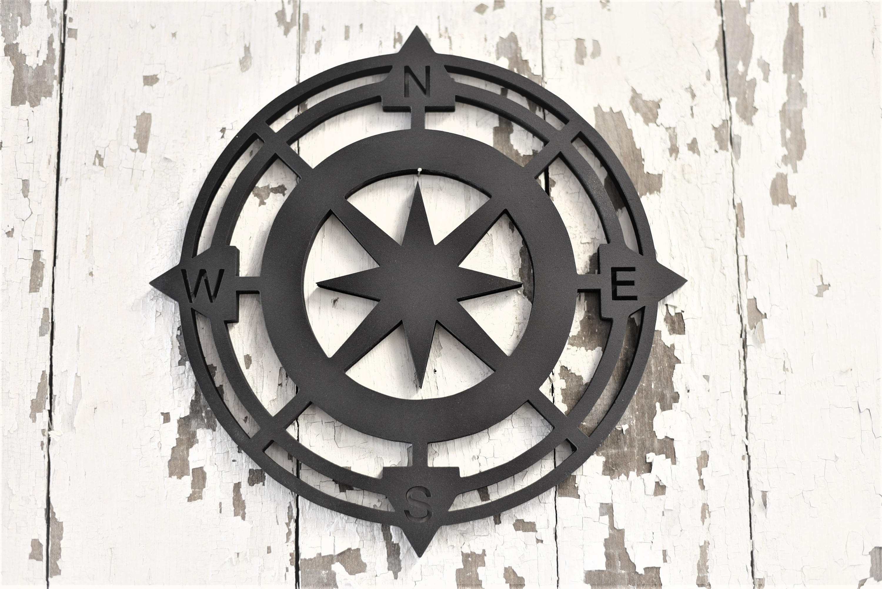 Etsy Pertaining To Round Compass Wall Decor (View 7 of 20)