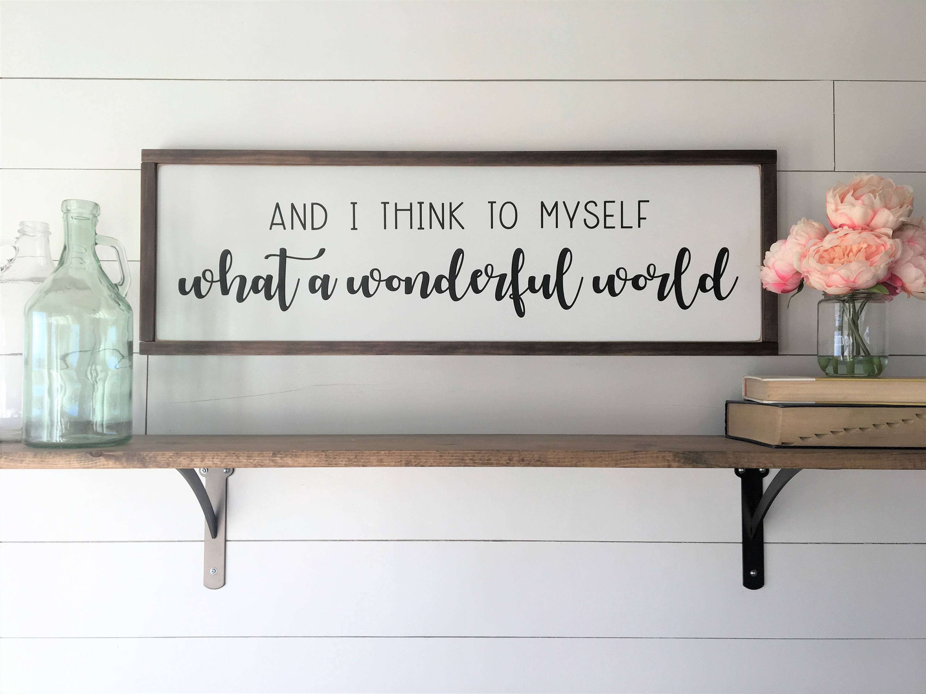 Etsy Pertaining To Wonderful World Wall Decor (View 11 of 20)