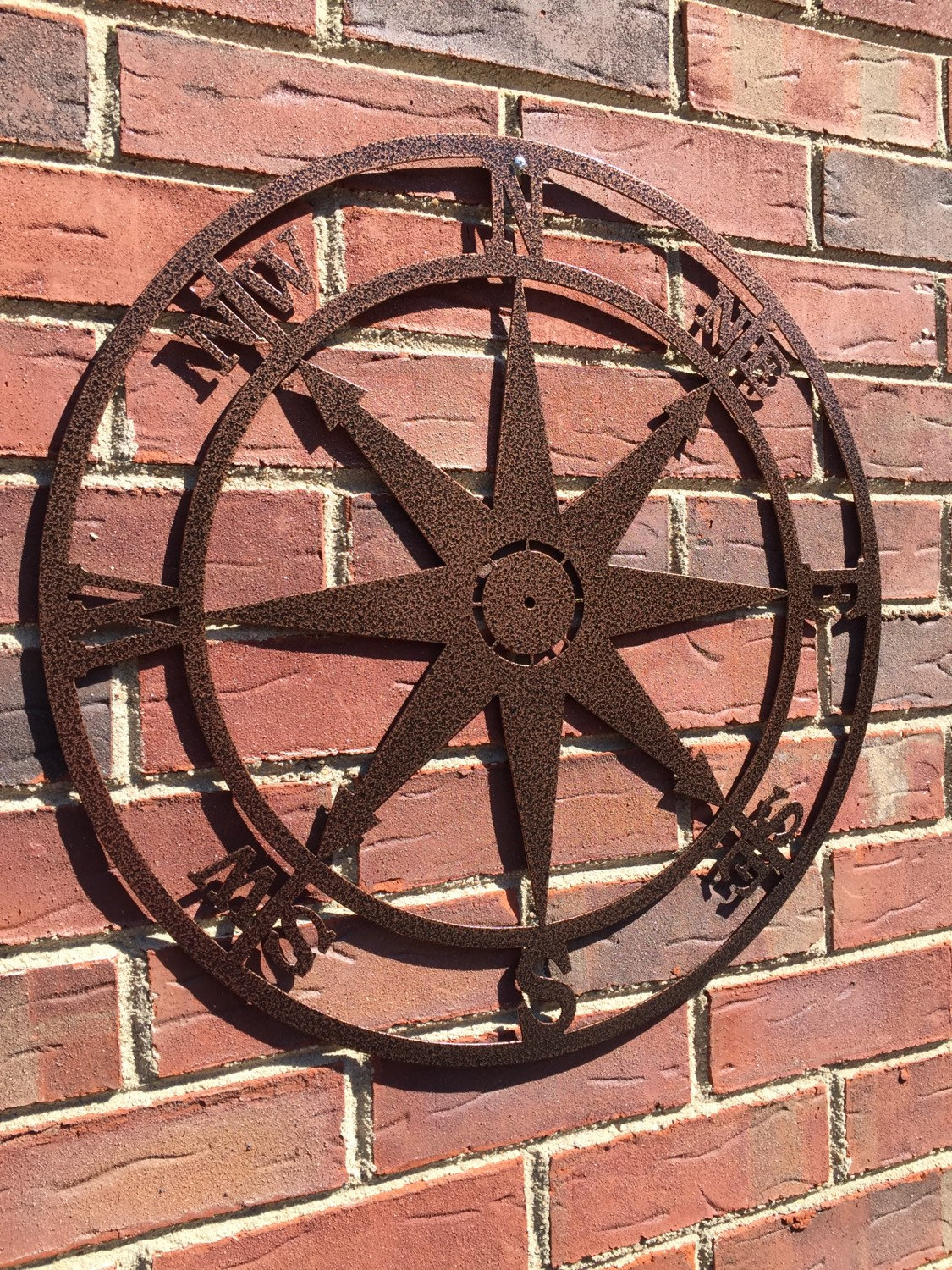 Etsy Regarding Best And Newest Outdoor Metal Wall Compass (View 6 of 20)