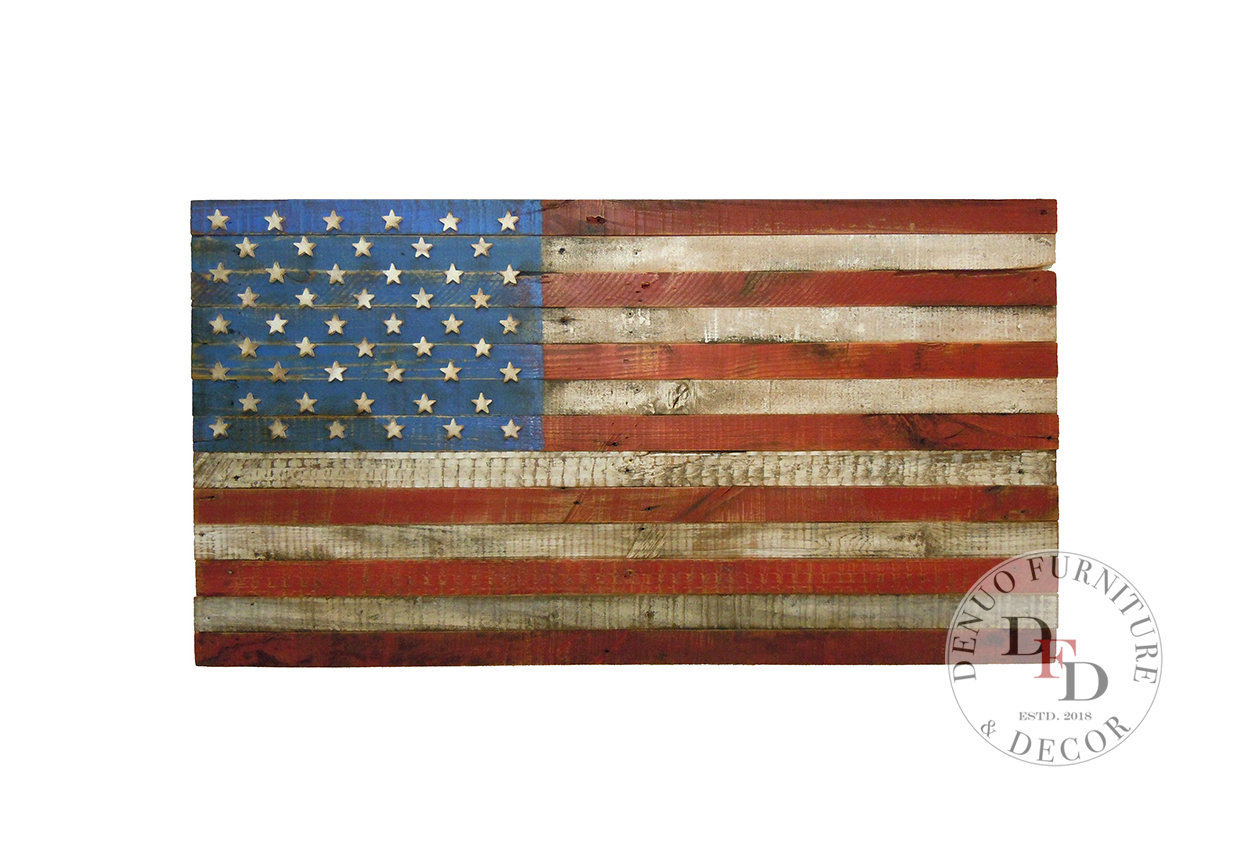 Etsy Regarding Trendy American Flag 3D Wall Decor (View 13 of 20)