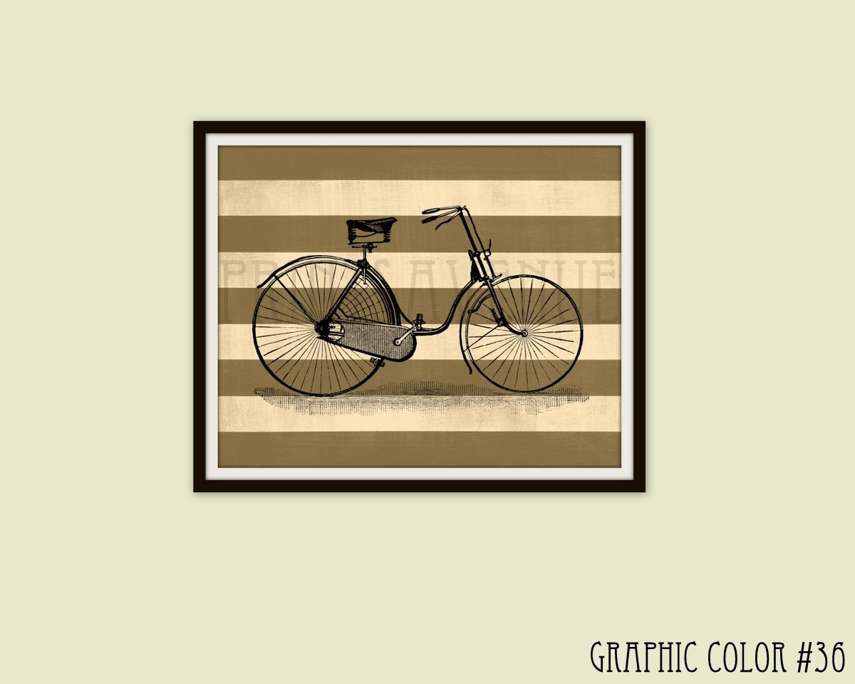 Etsy With Favorite Bike Wall Decor (View 9 of 20)