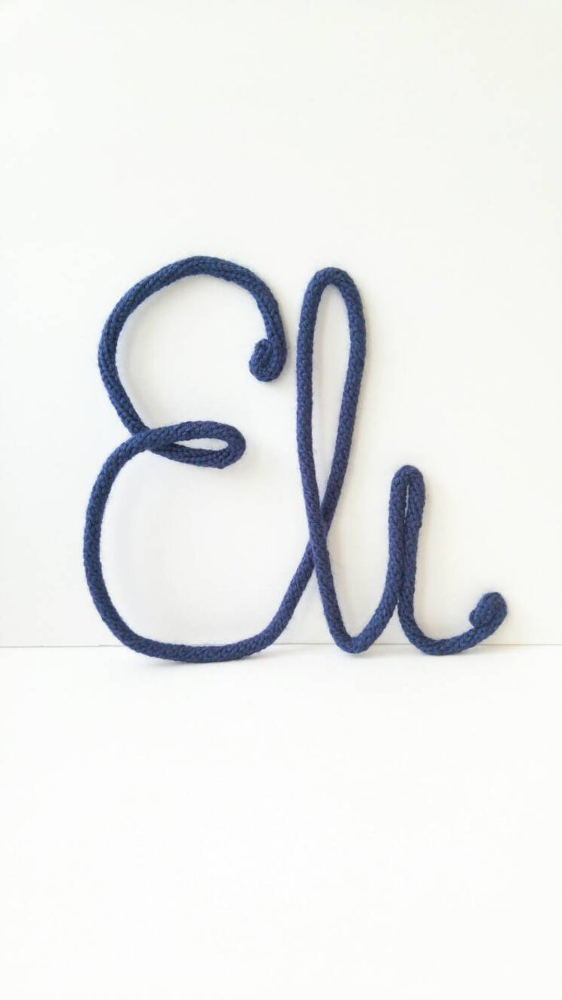 Etsy With Newest Metal Rope Wall Sign Wall Decor (View 17 of 20)