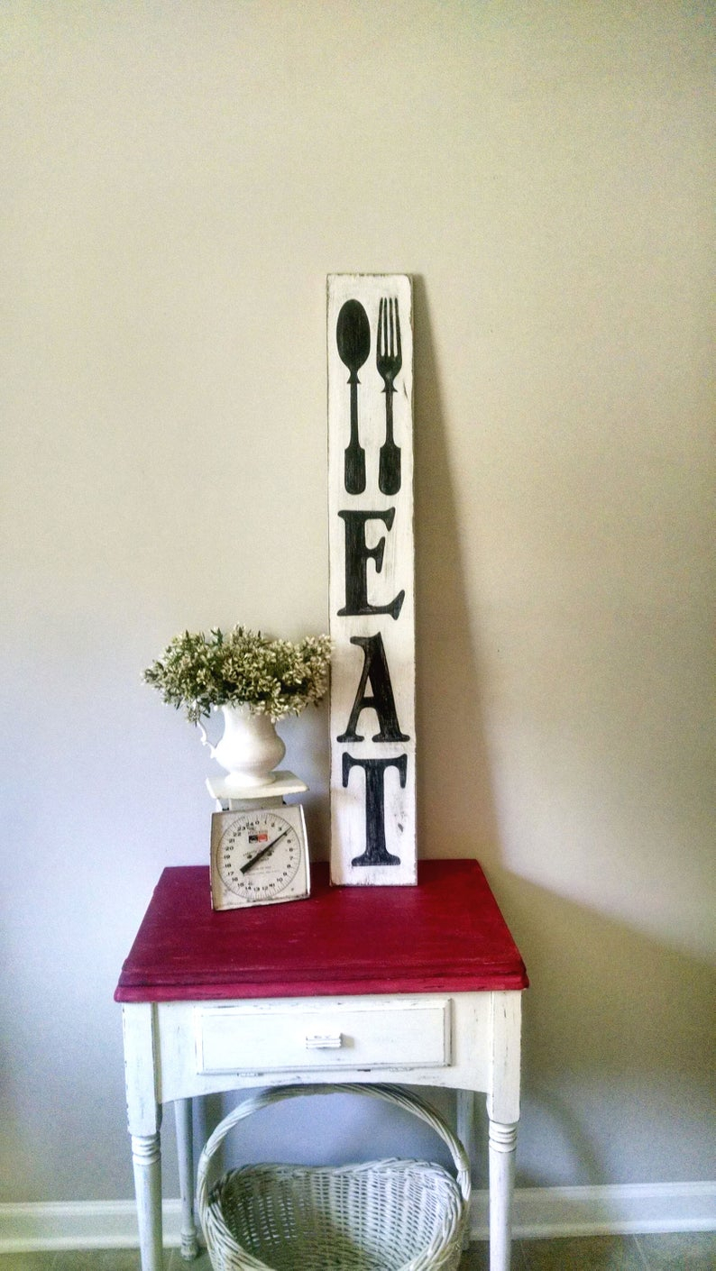 Etsy With Regard To Eat Rustic Farmhouse Wood Wall Decor (View 4 of 20)