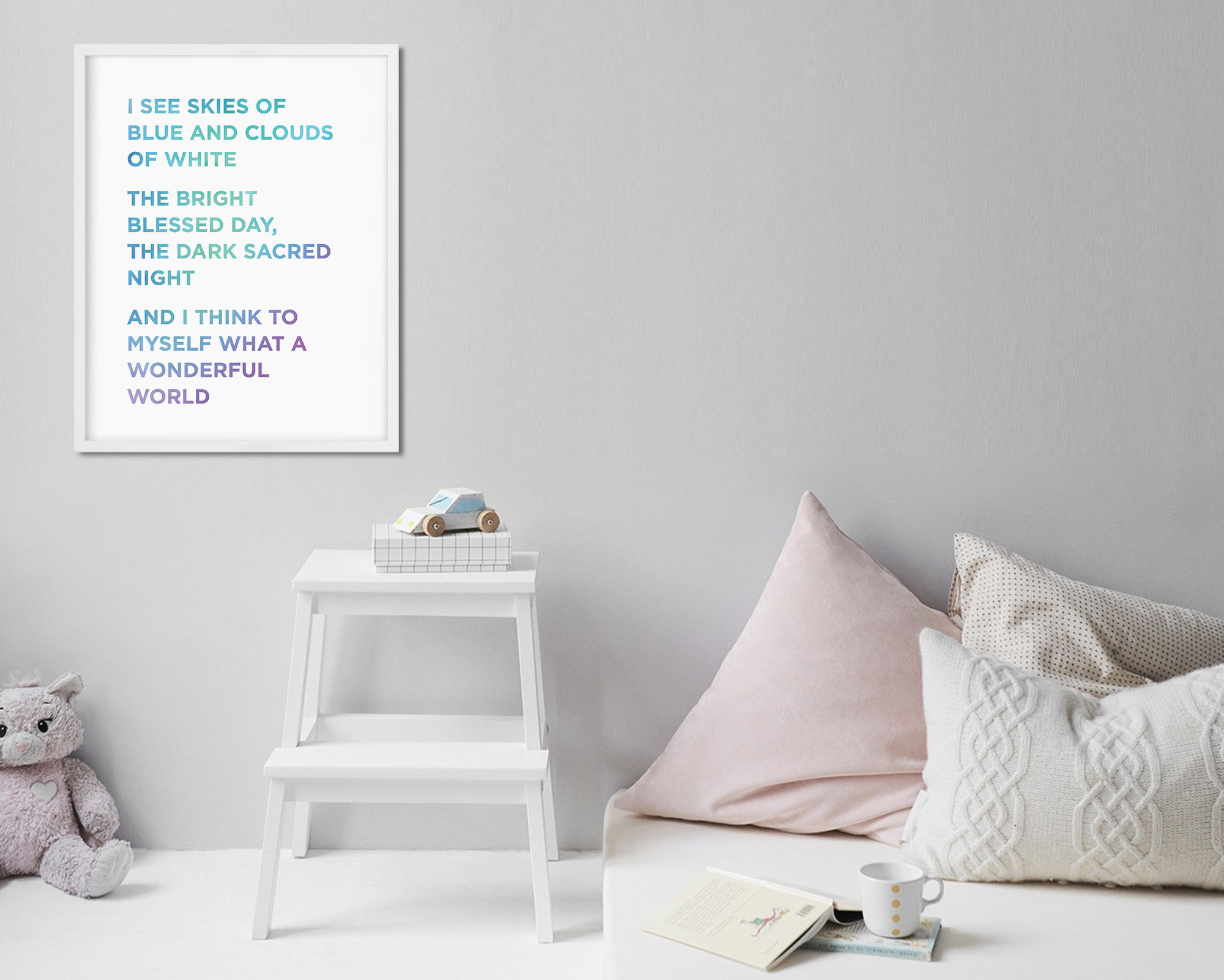 Etsy With Regard To Wonderful World Wall Decor (View 20 of 20)