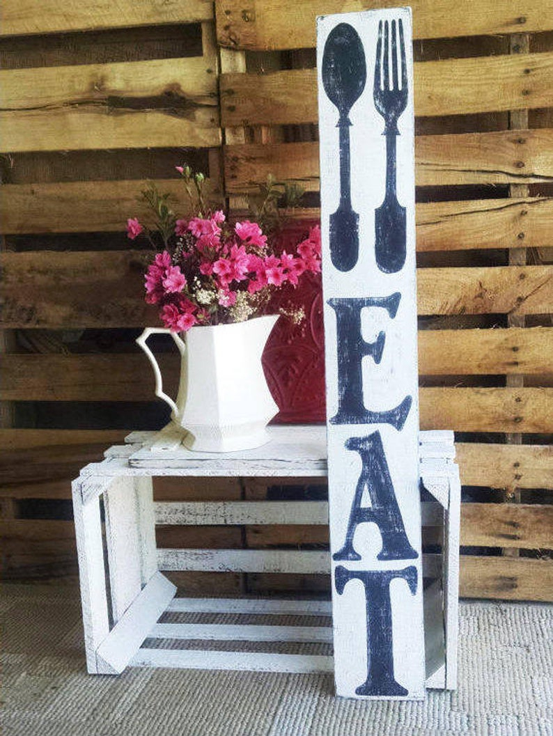 Etsy Within Eat Rustic Farmhouse Wood Wall Decor (View 6 of 20)