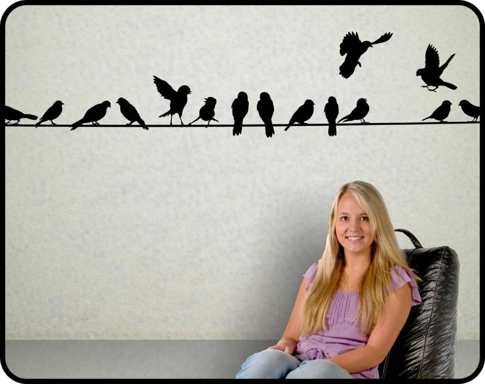 Famous Birds On A Wire Wall Decor With Regard To New 2015 Birds On A Wire Wall Decal Vinyl Wall Sticker Home Decor (View 8 of 20)