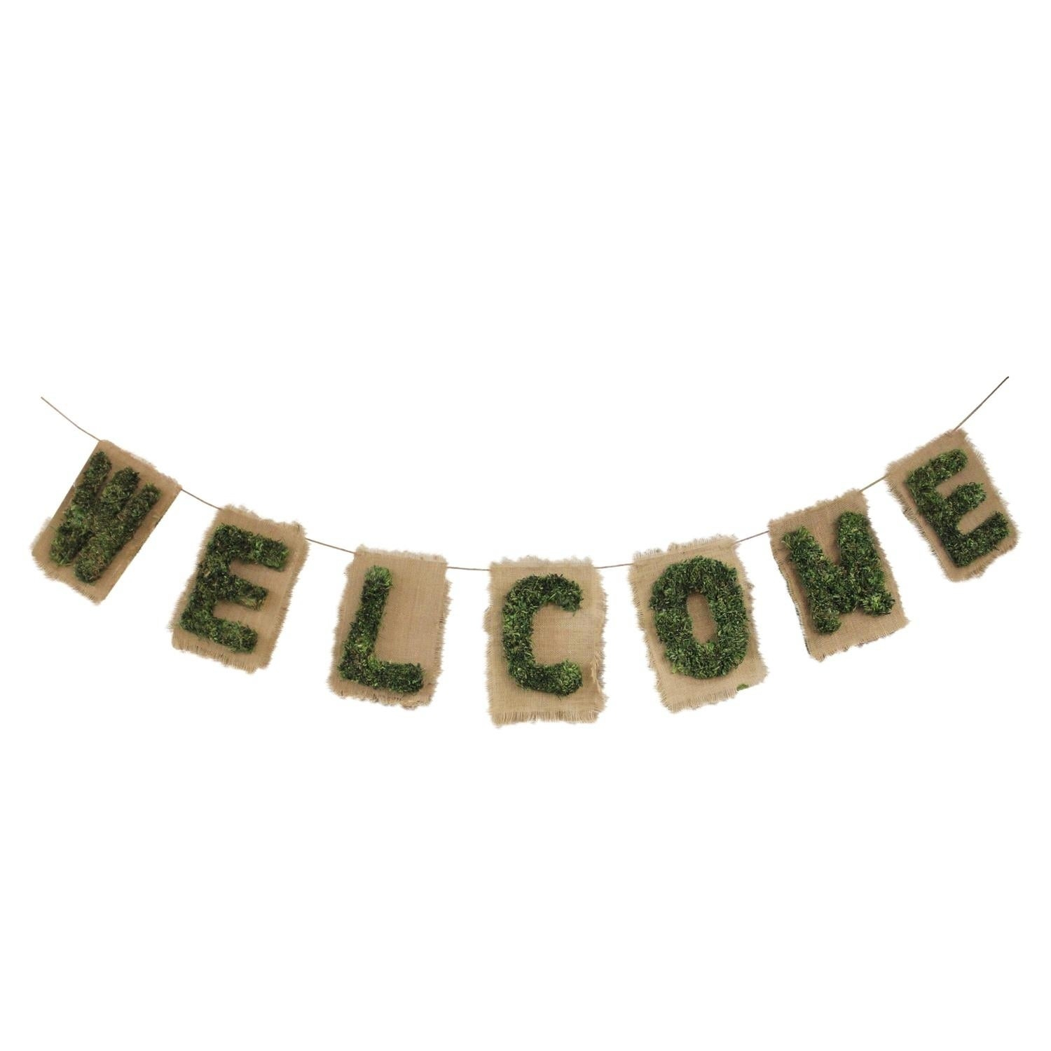 "Famous In-A-Word ""welcome"" Wall Decor for Shop 6' Cozy Twine Brown And Green €Œwelcome"" Hanging Wall"