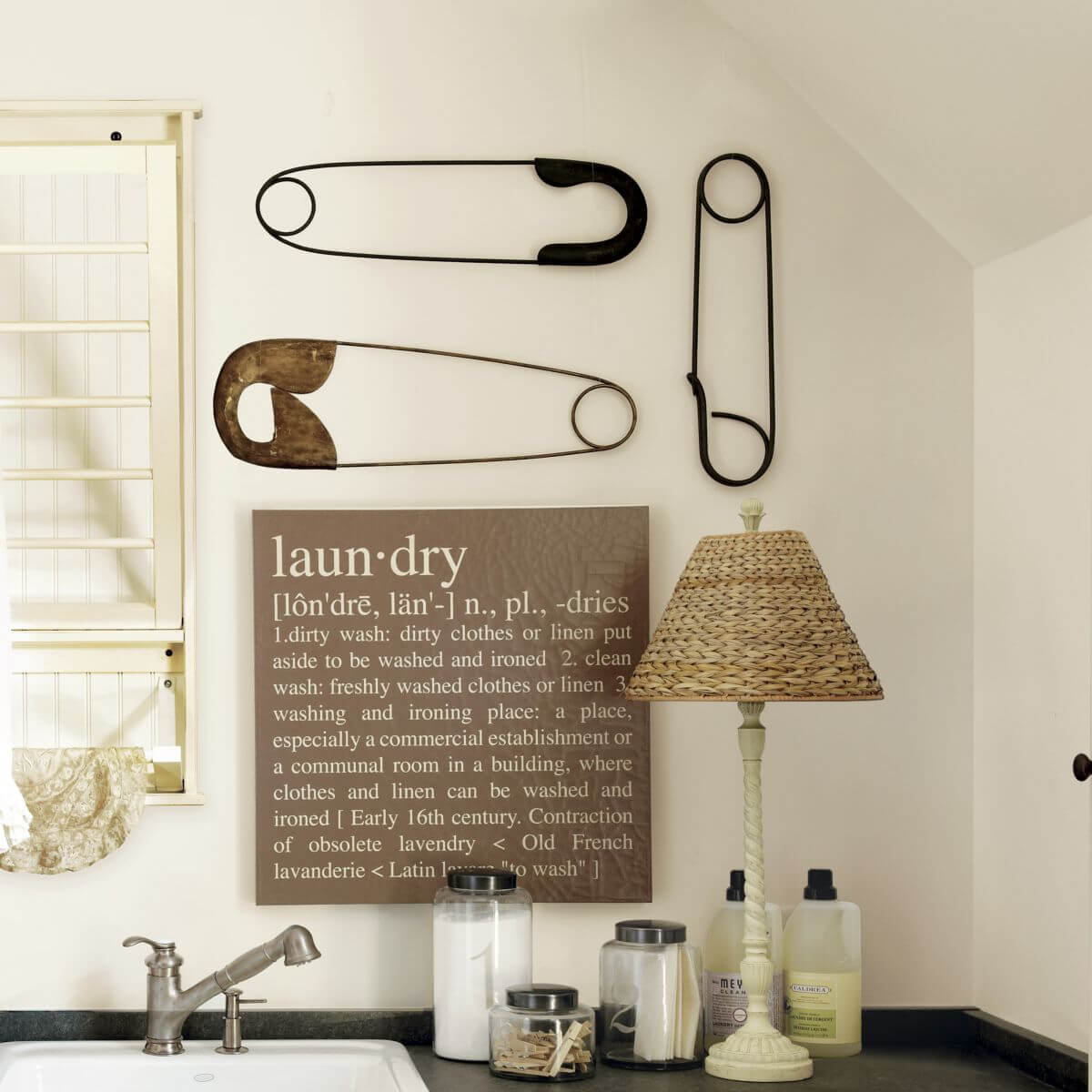 Famous Metal Laundry Room Wall Decor Within 25 Best Vintage Laundry Room Decor Ideas And Designs For  (View 4 of 20)