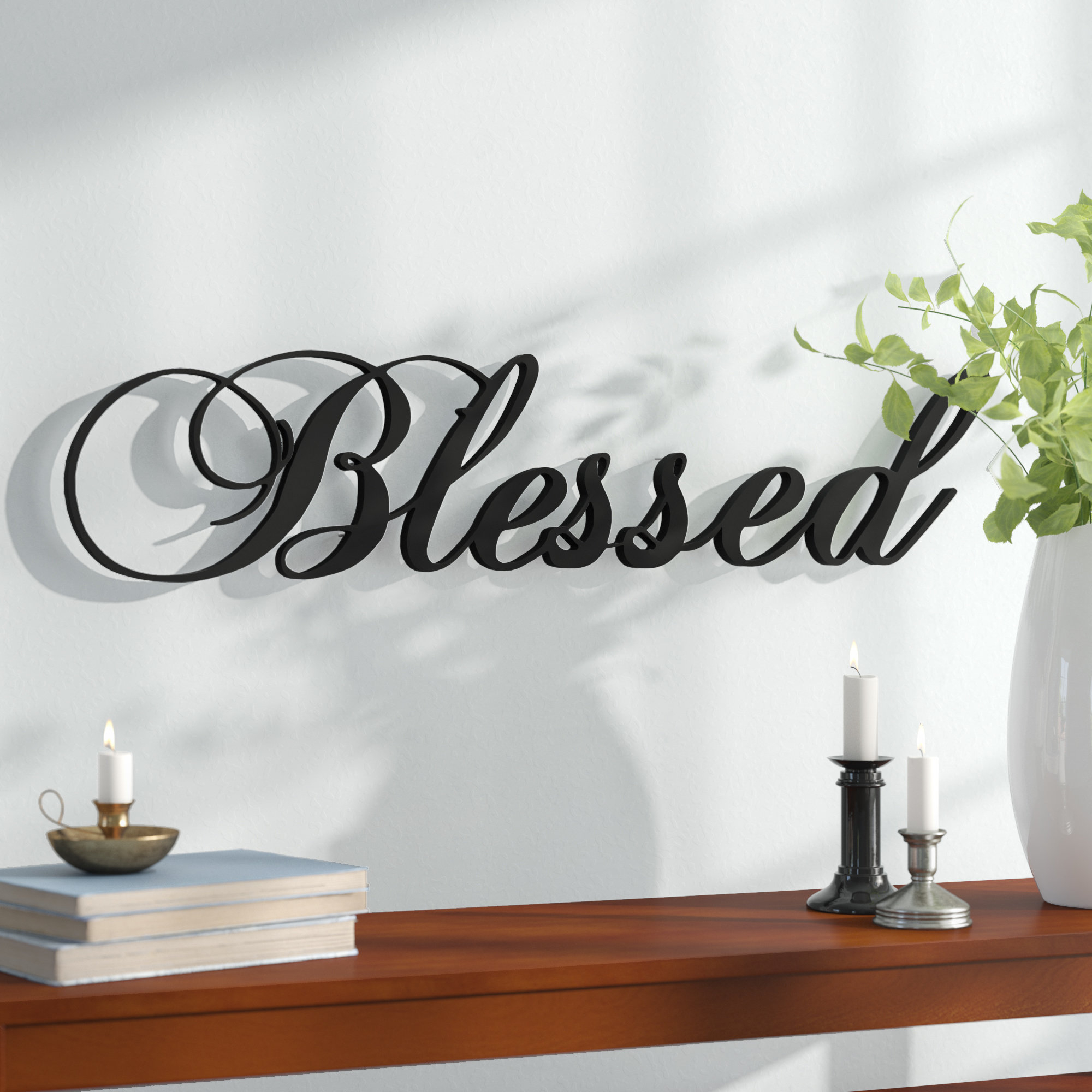 Famous Personalized Distressed Vintage Look Kitchen Metal Sign Wall Decor Intended For Blessed Steel Wall Décor & Reviews (View 11 of 20)