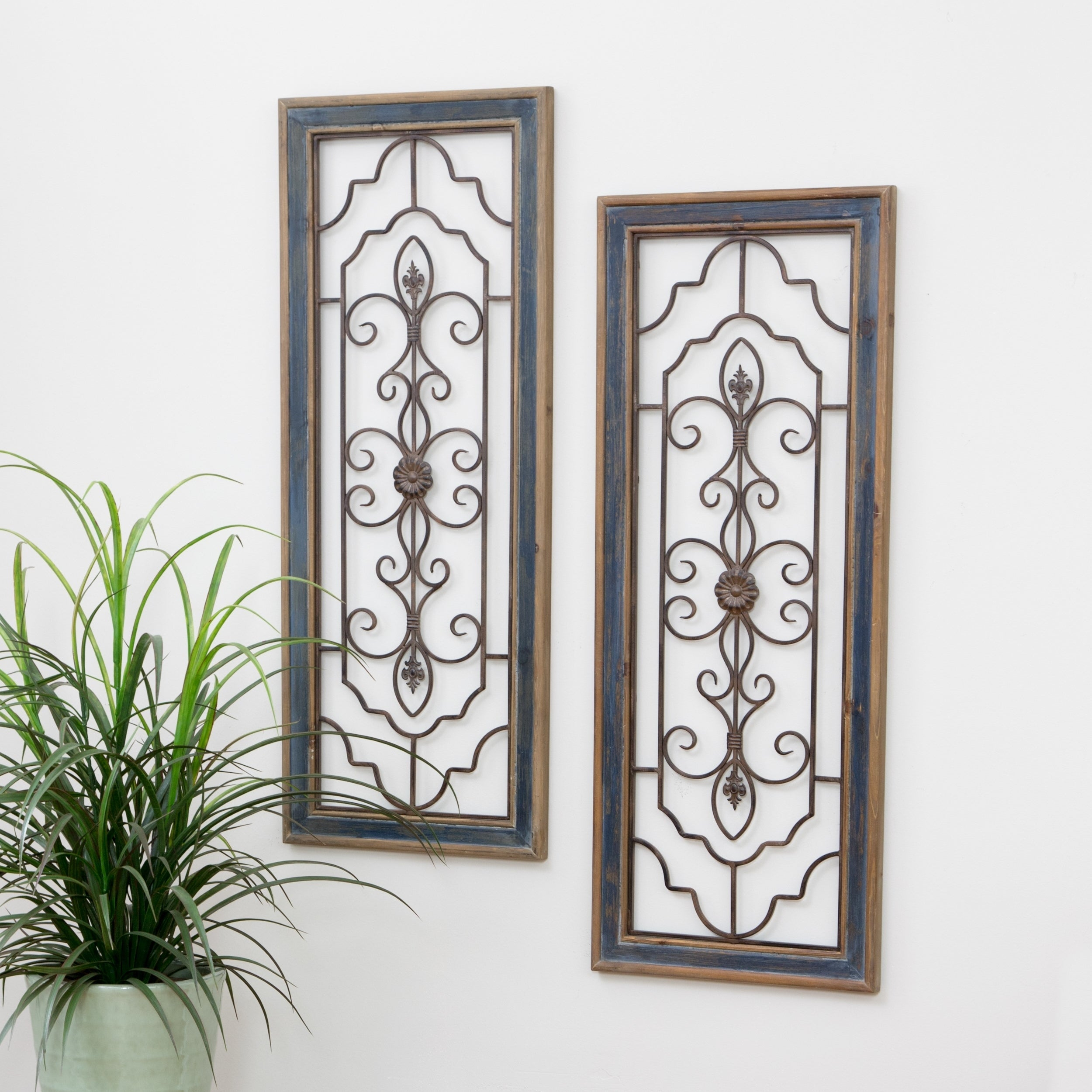 Famous Shop Grace Wall Decor (Set Of 2) - Free Shipping On Orders Over $45 throughout 4 Piece Metal Wall Plaque Decor Sets