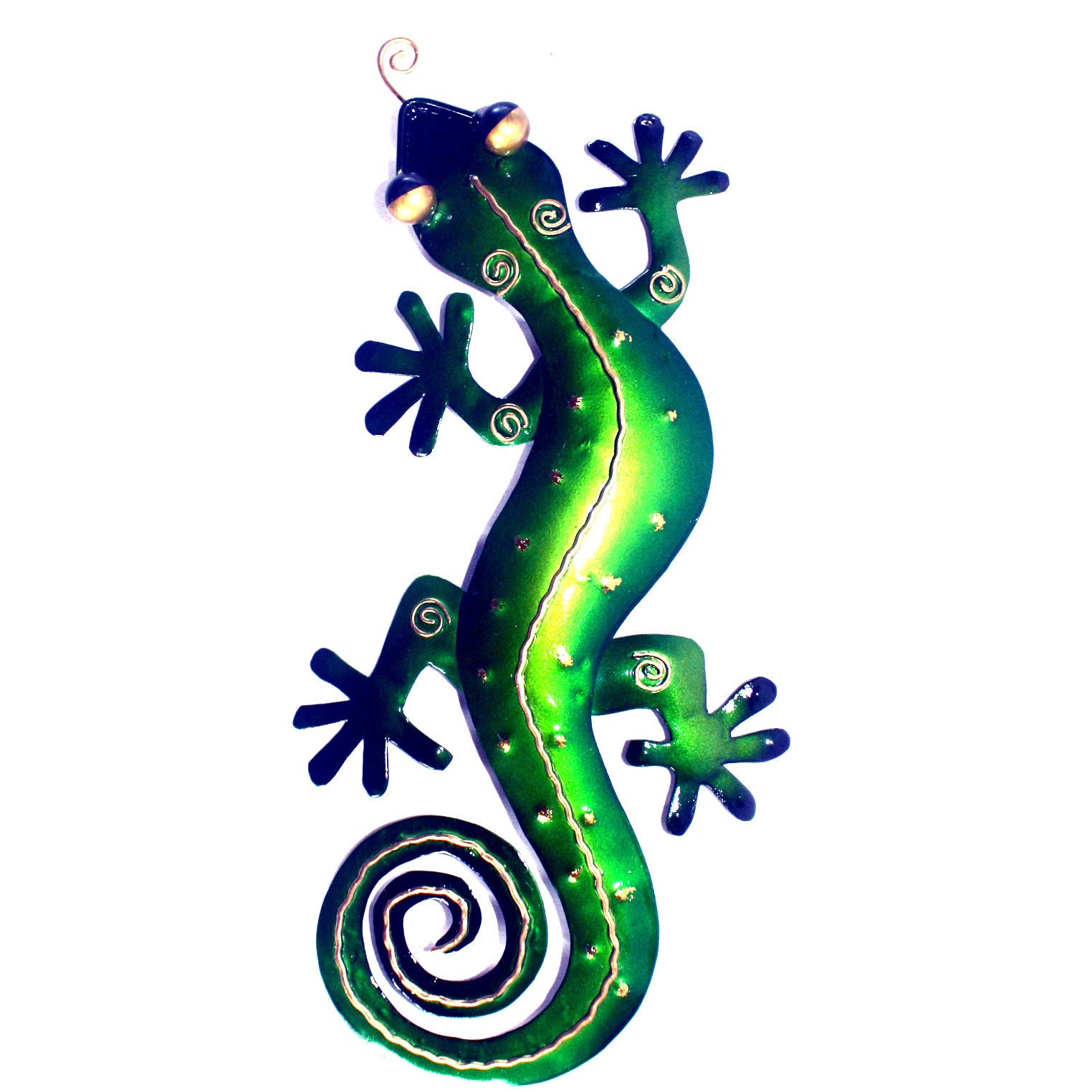 Famous Shop Handmade Iron Medium Green Gecko Wall Decor (Indonesia) - Free within Gecko Wall Decor