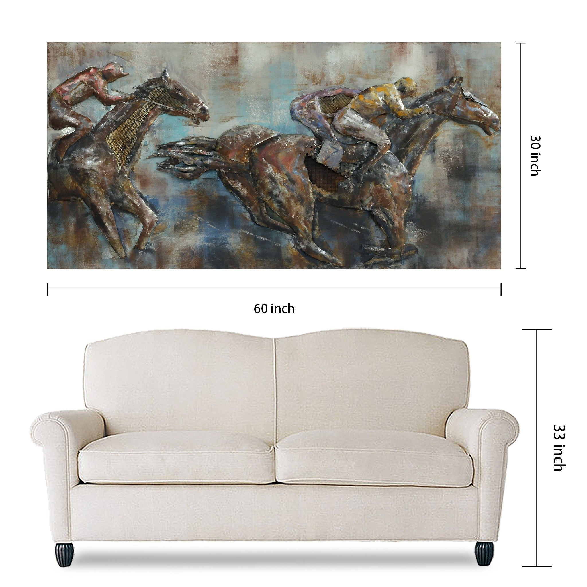"""Famous Shop """"race Day"""" Mixed Media Iron Hand Painted Dimensional Wall Décor For Mixed Media Iron Hand Painted Dimensional Wall Decor (View 15 of 20)"""