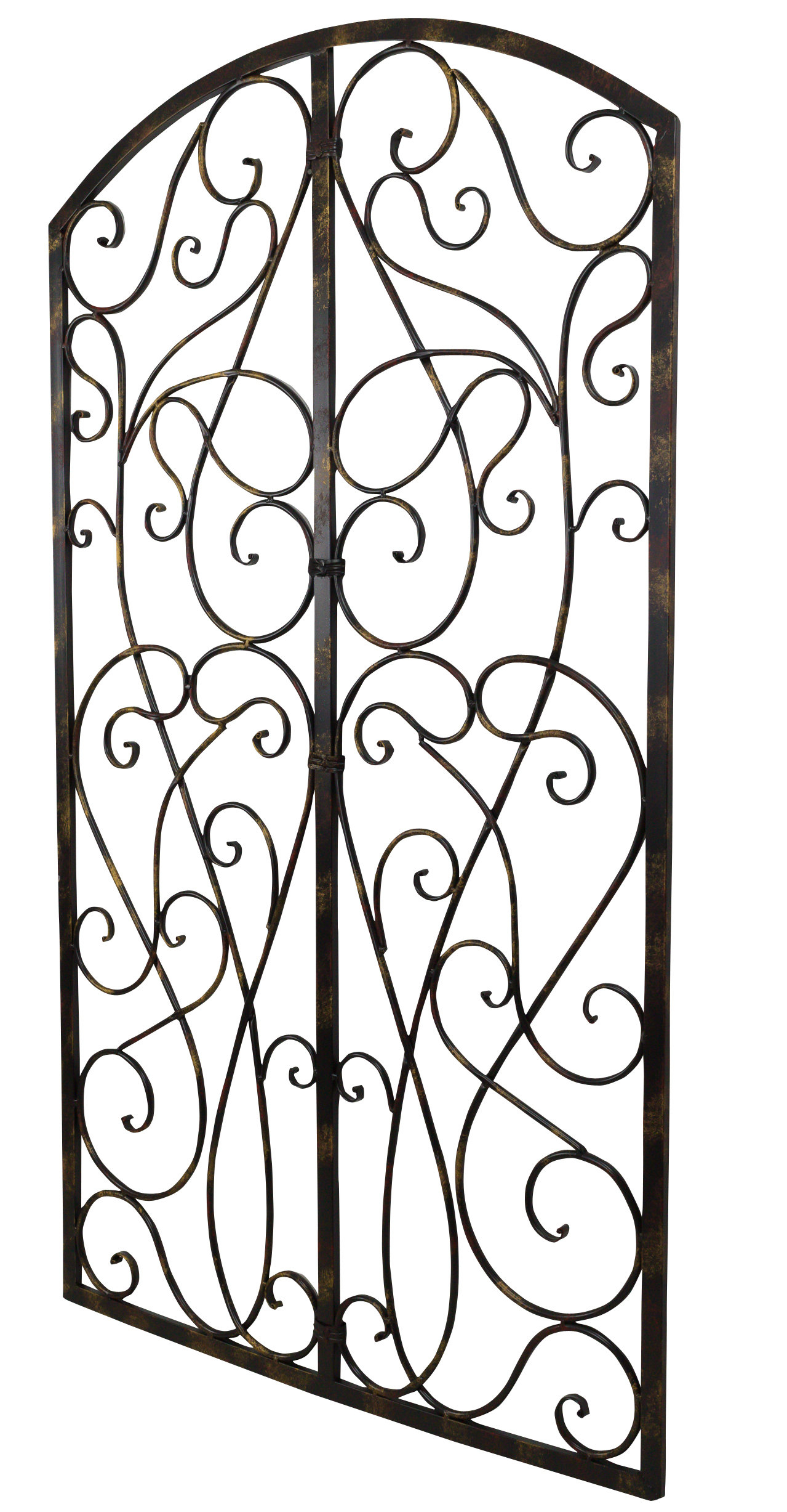 Fashionable Bayaccents Wrought Iron Scroll Panel Wall Décor (View 11 of 20)