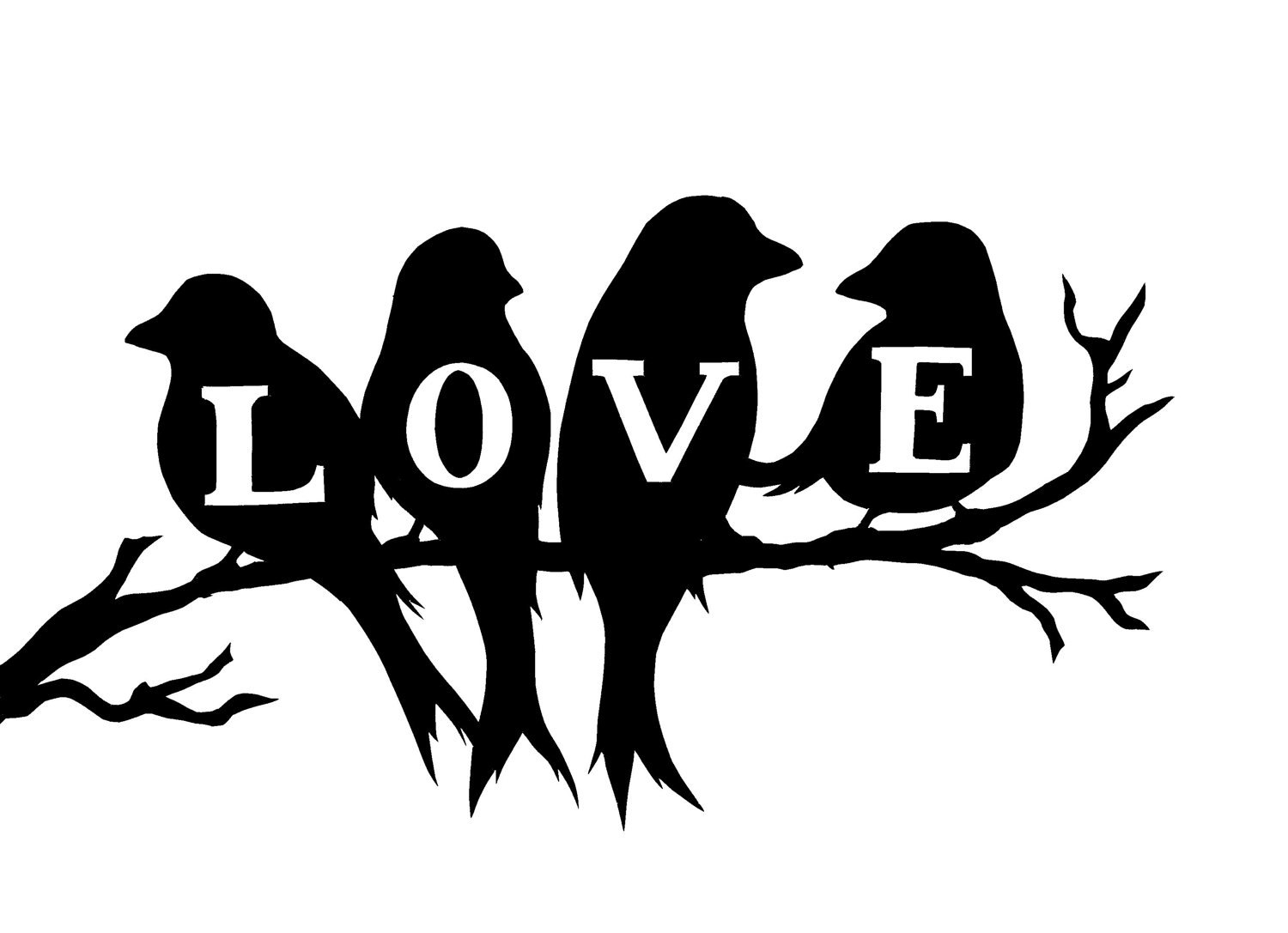 Fashionable Birds On A Branch Wall Decor In Love Birds Vinyl Wall Decal, Wall Decor, Birds On A Branch, Wall (View 20 of 20)