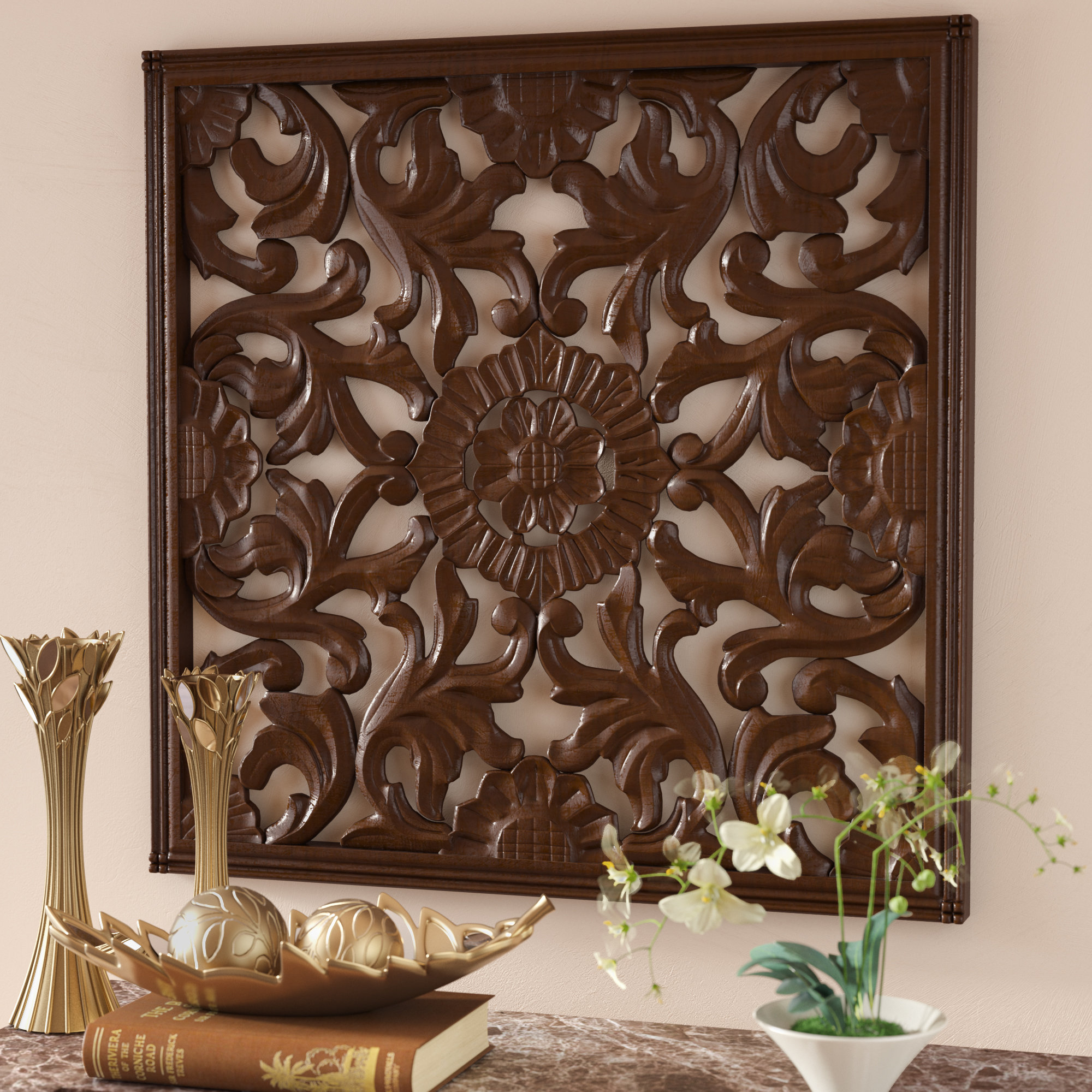 Fashionable European Medallion Wall Decor With Regard To Astoria Grand Square Handcrafted Medallion Wall Décor & Reviews (View 10 of 20)